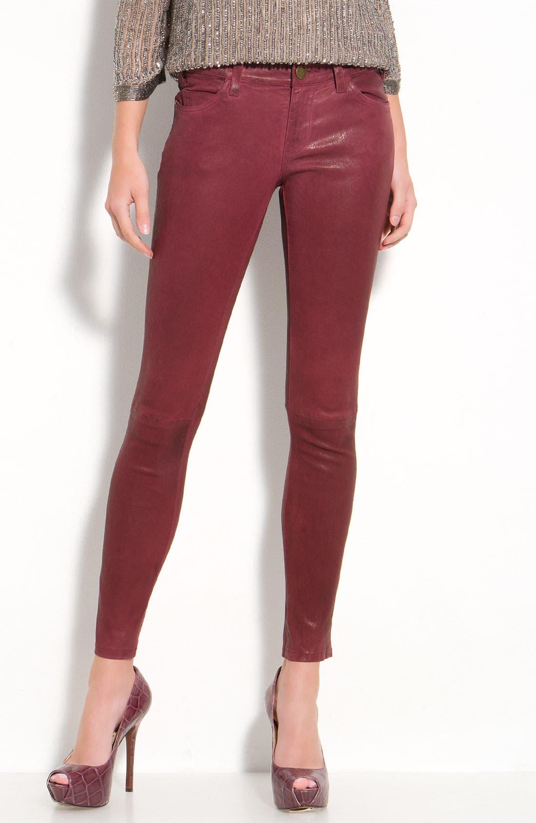 Alternate Image 1 Selected - Current/Elliott Leather Skinny Ankle Pants