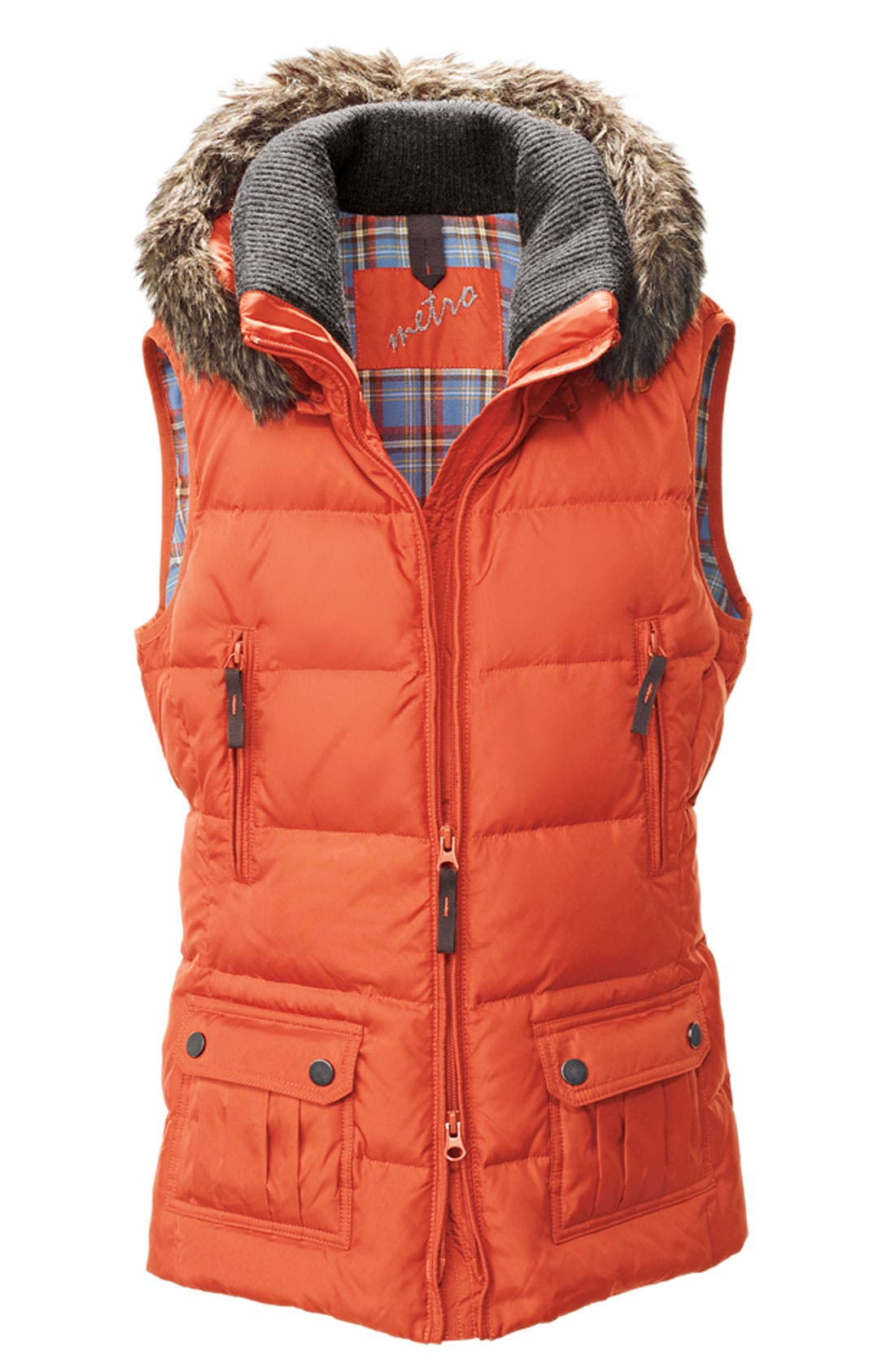 Alternate Image 3  - Kristen Blake Quilted Vest with Faux Fur Trim