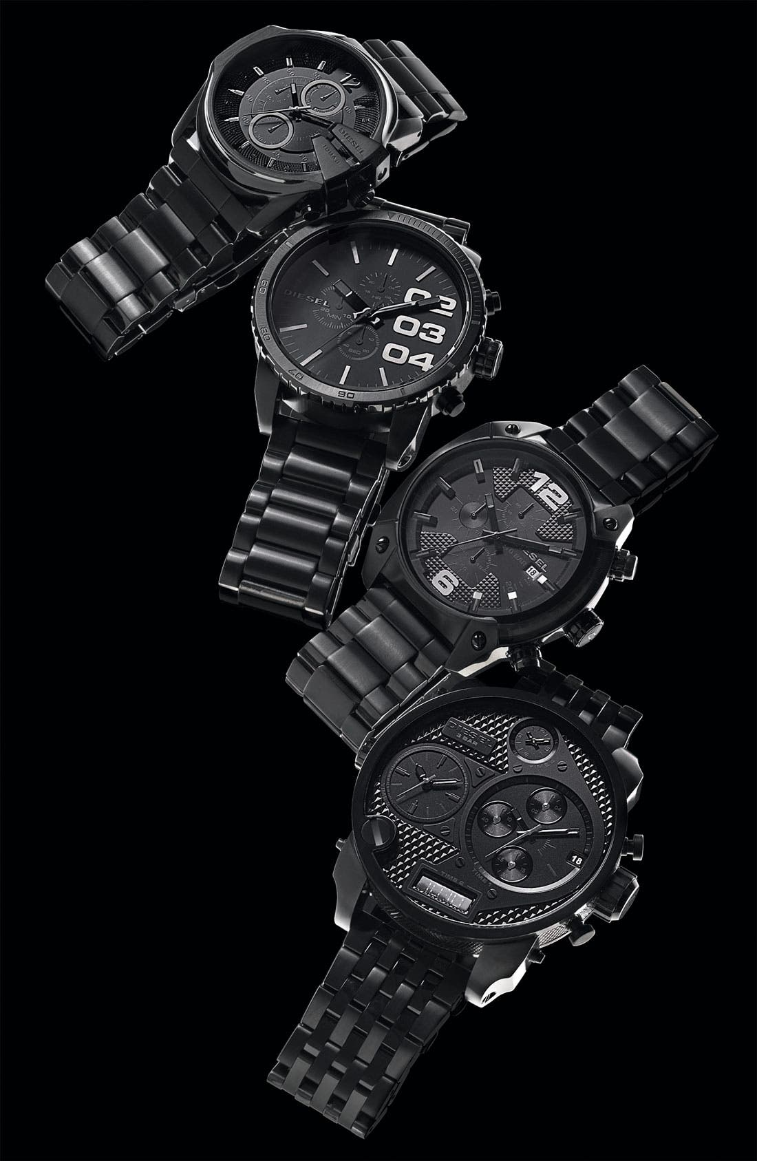 Alternate Image 2  - DIESEL® 'Double Down' Chronograph Bracelet Watch, 51mm