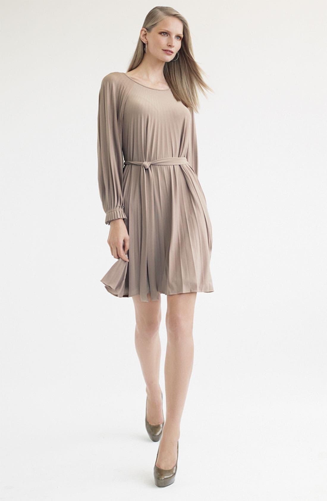 Alternate Image 3  - Donna Morgan Sunburst Pleat Jersey Dress