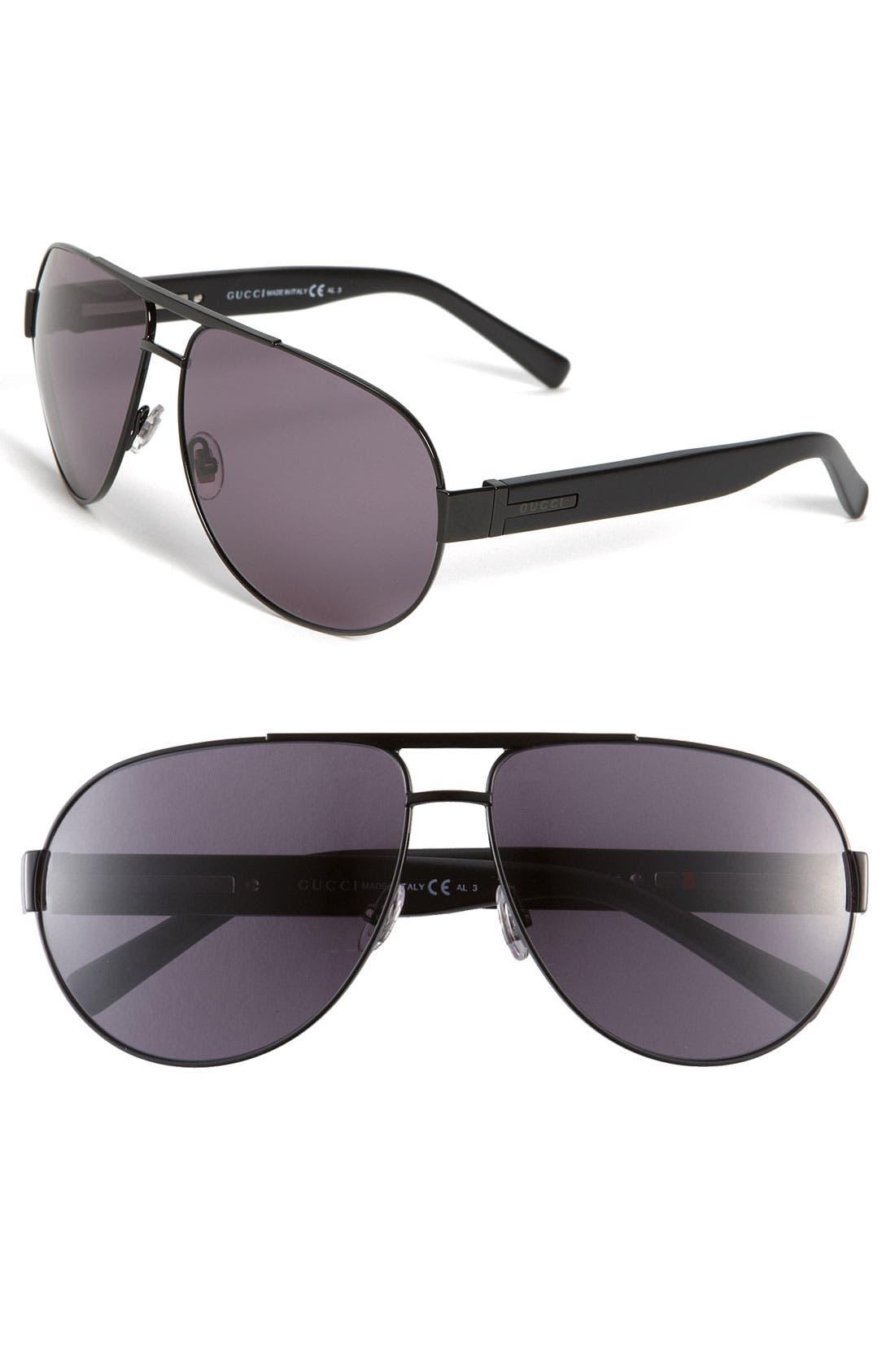 Main Image - Gucci Stainless Steel Aviator Sunglasses