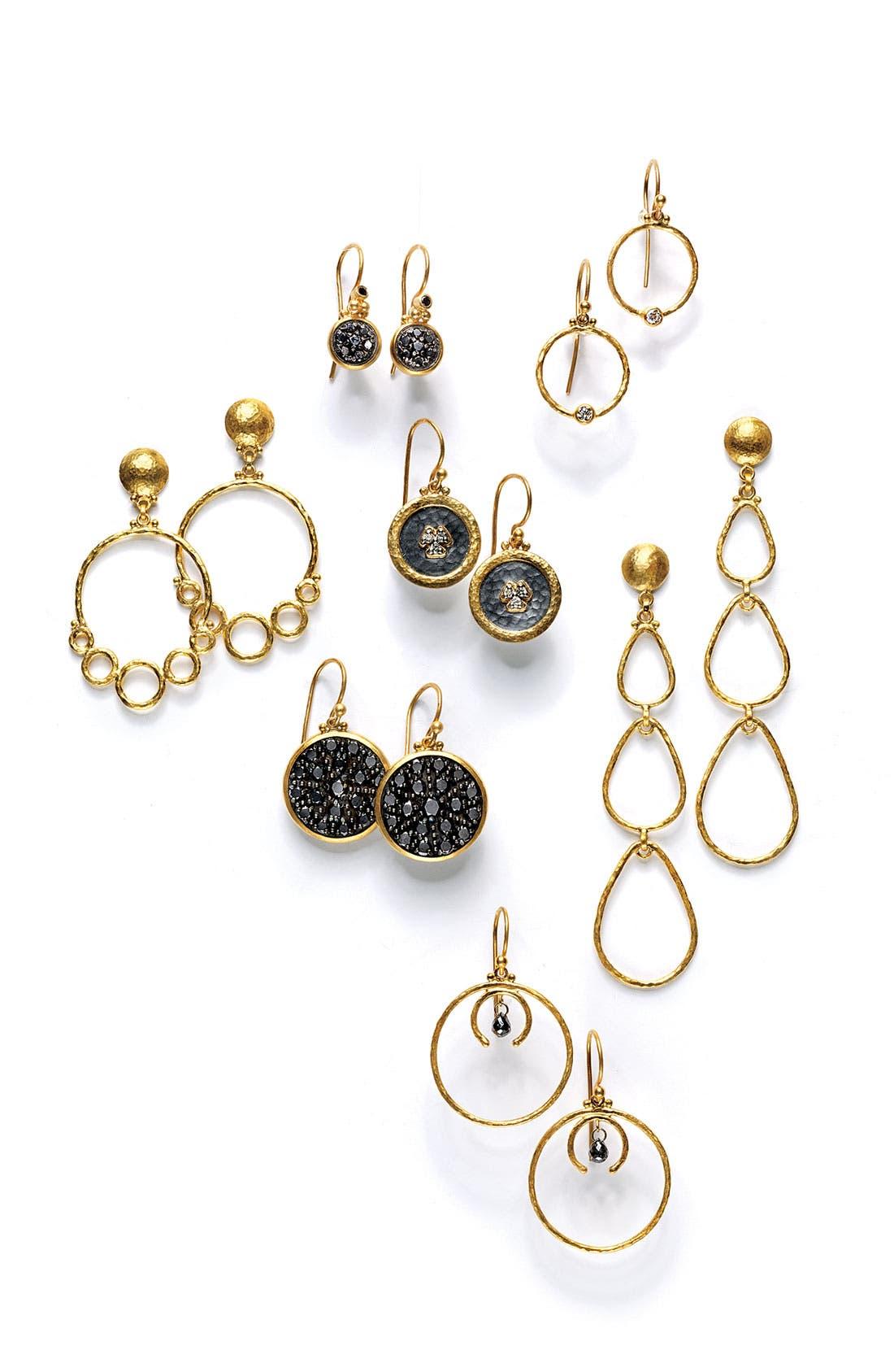 Alternate Image 2  - Gurhan 'Geometry' Black Diamond Drop Earrings