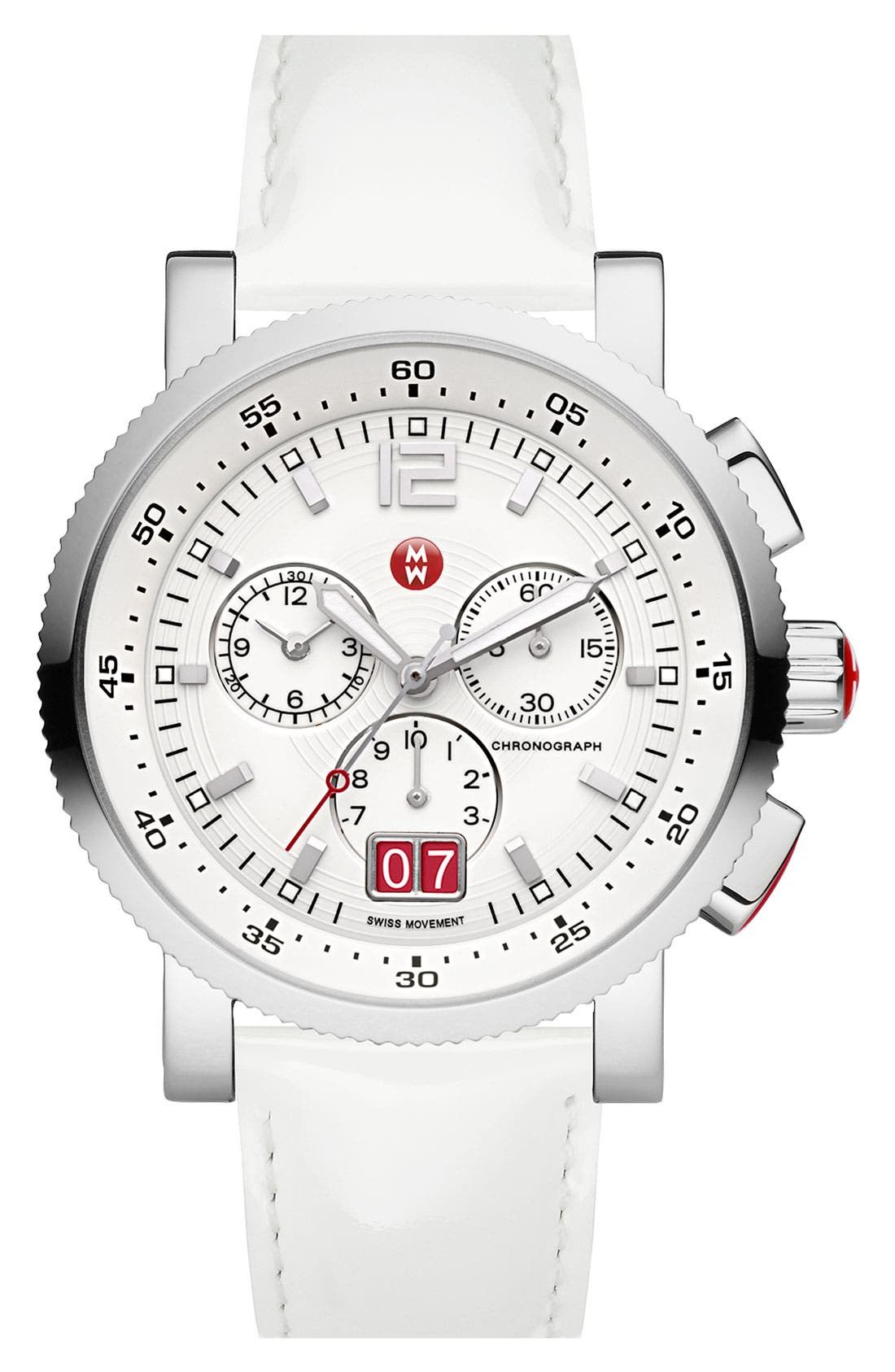 Alternate Image 3  - MICHELE 'Sport Sail - Large' Black Dial Watch Case, 42mm