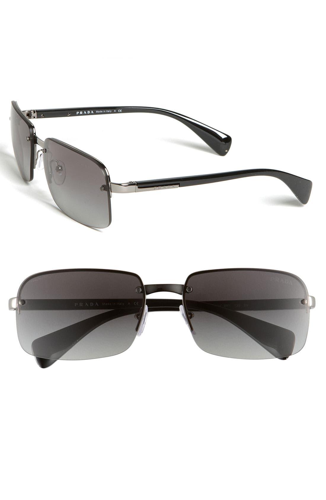 Main Image - Prada 60mm Rimless Sunglasses