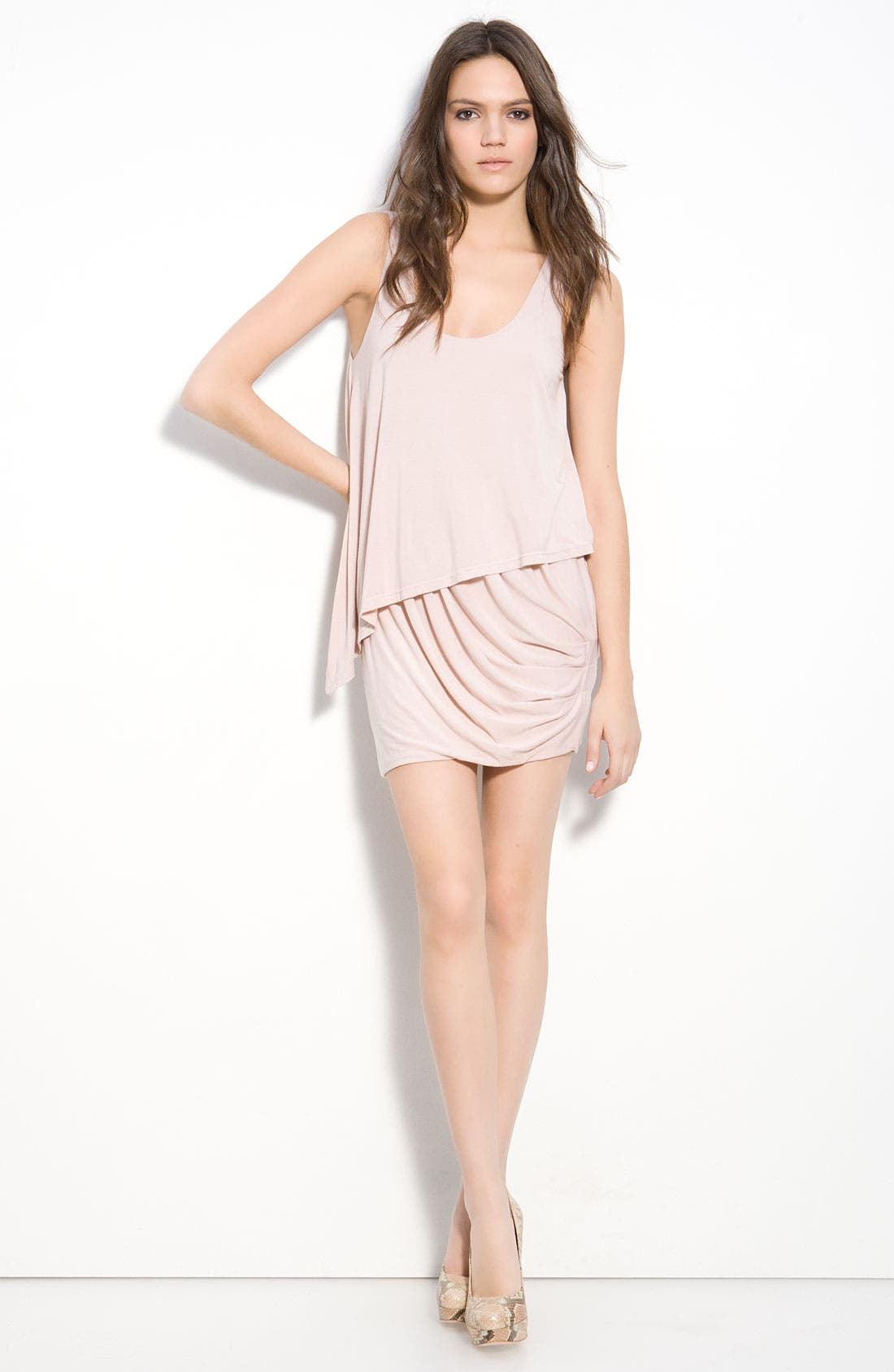 Alternate Image 3  - Krisa Asymmetrical Layered Tank Dress