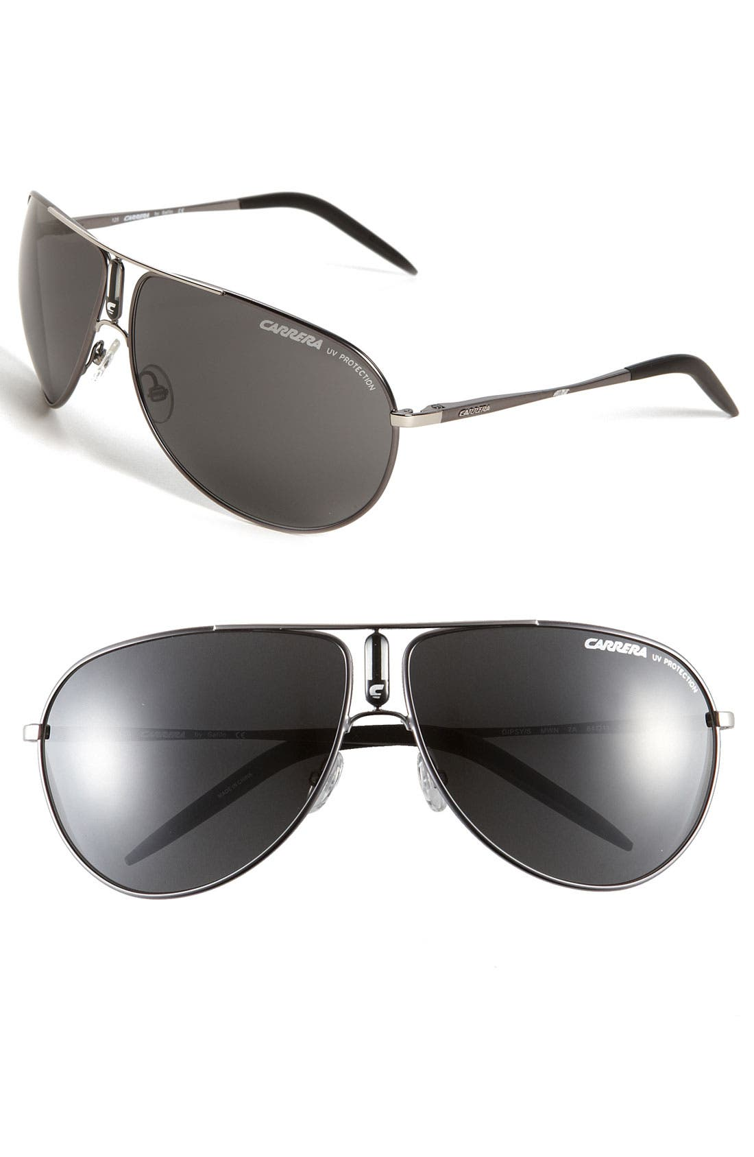 Alternate Image 1 Selected - Carrera Eyewear 'Gipsy' 64mm Aviator Sunglasses