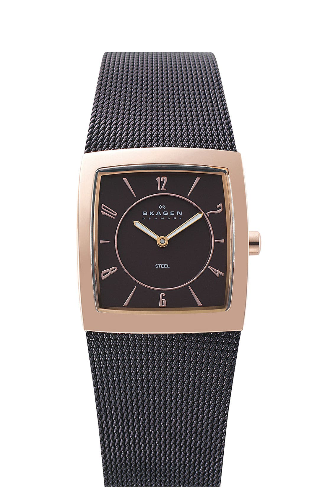 Alternate Image 1 Selected - Skagen 'Mesh' Square Case Watch, 24mm