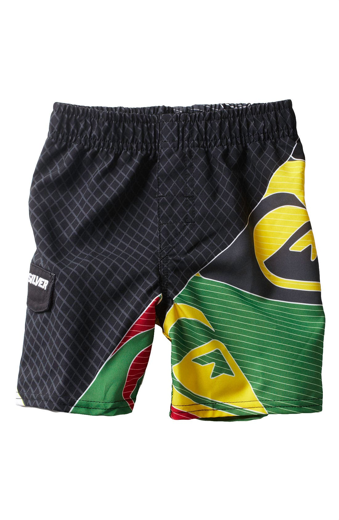 Alternate Image 1 Selected - Quiksilver 'Finish Line' Volley Shorts (Toddler)