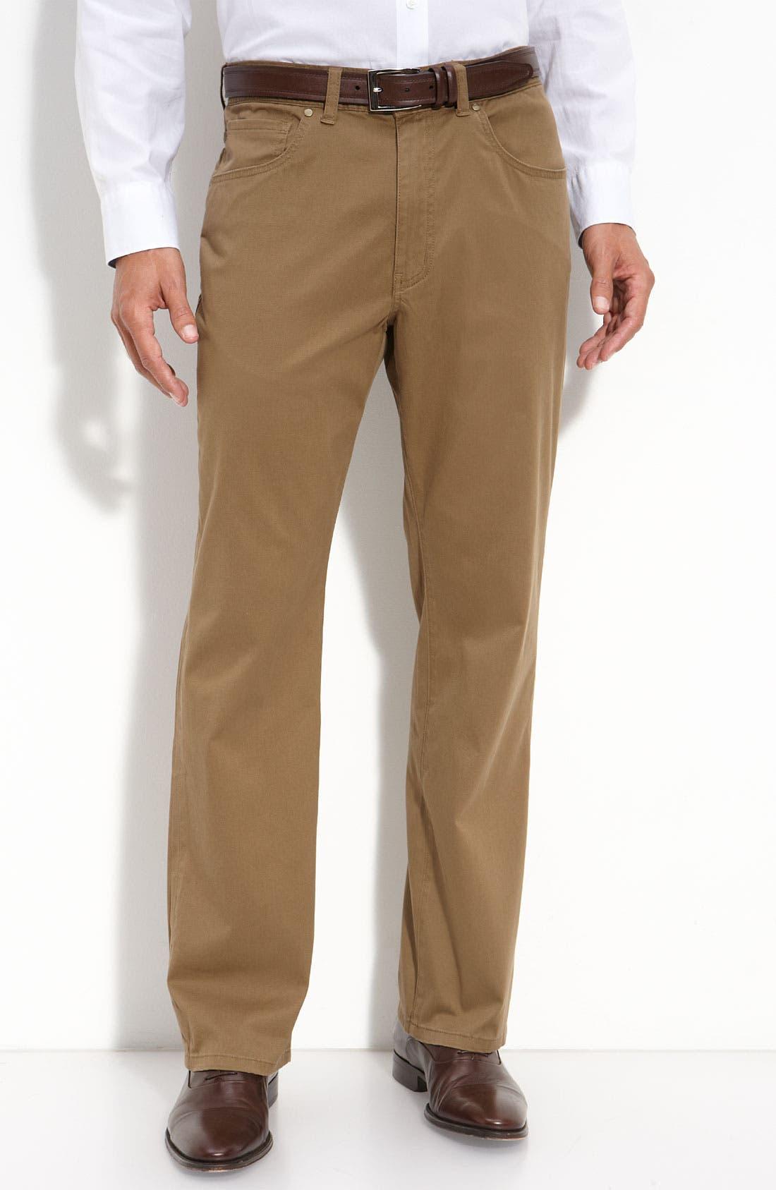 Main Image - Cutter & Buck 'Colin' Twill Pants (Big & Tall)