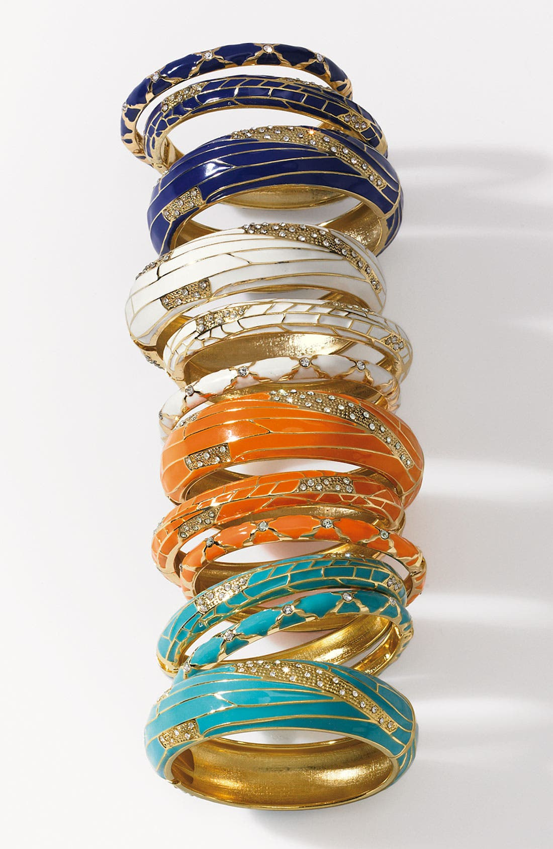 Alternate Image 2  - Sequin Small Insect Wing Enamel Bangle