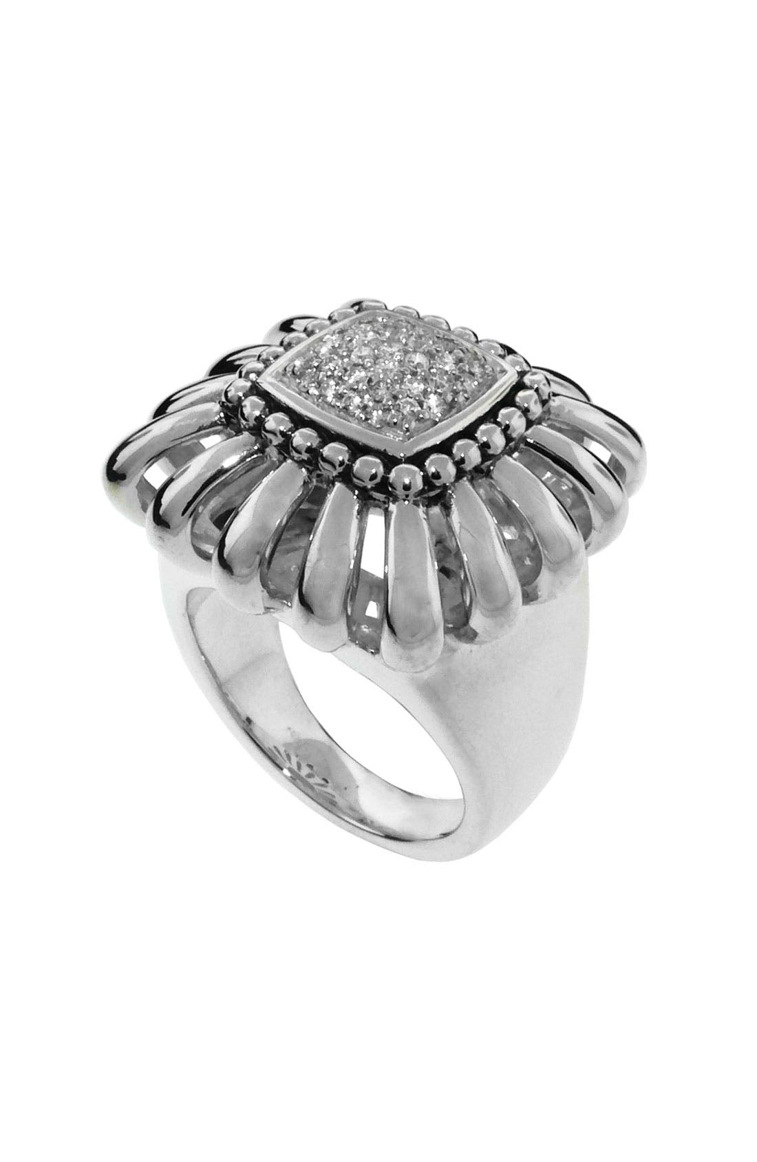 Alternate Image 1 Selected - LAGOS 'Prêt-à-Porter' Diamond Daisy Cocktail Ring