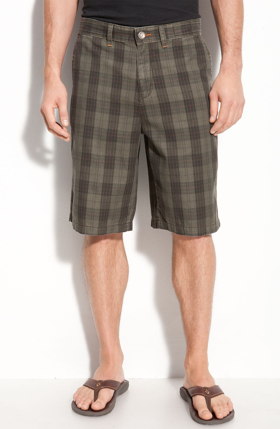 Main Image - Tommy Bahama Denim 'Wanted, Plaid or Alive' Shorts