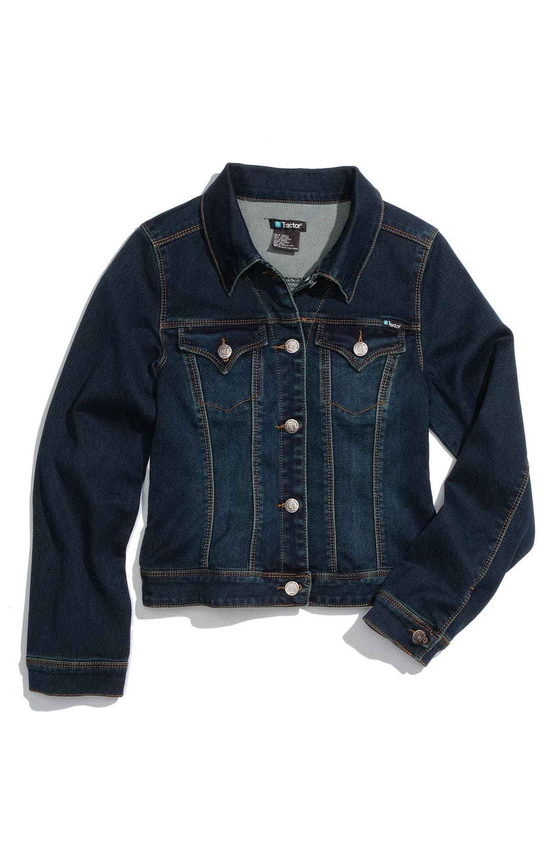 Main Image - Tractr Jean Jacket (Big Girls)
