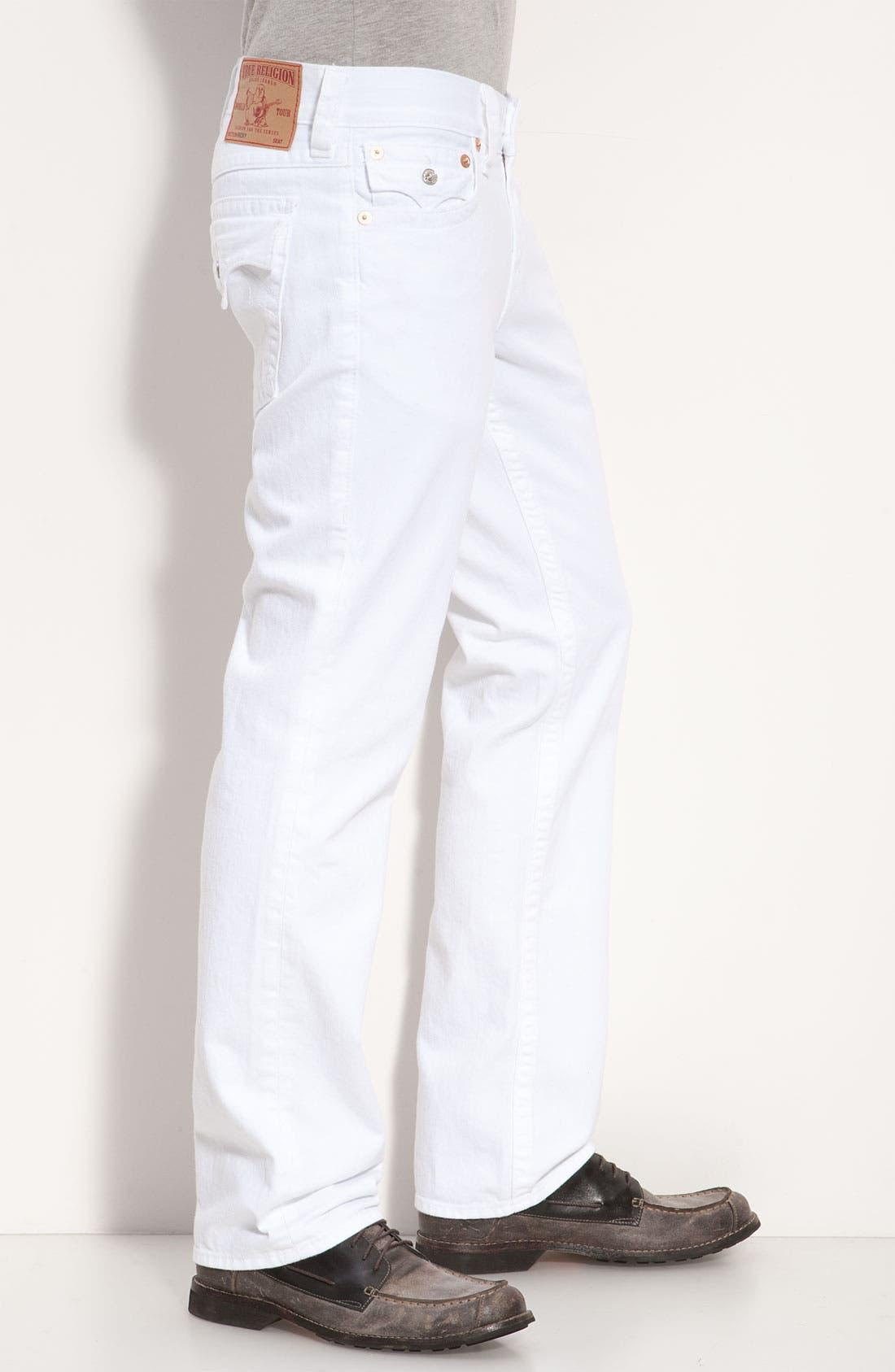 Alternate Image 3  - True Religion Brand Jeans 'Ricky' Relaxed Straight Leg Jeans (Optic Rinse)