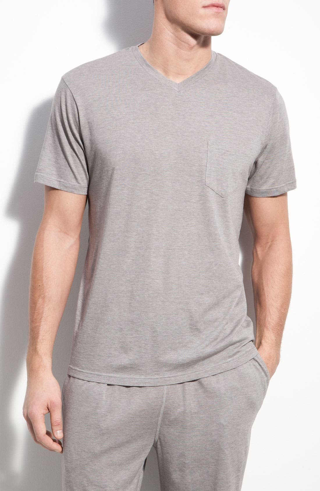 Main Image - Daniel Buchler Pima Cotton & Modal V-Neck T-Shirt