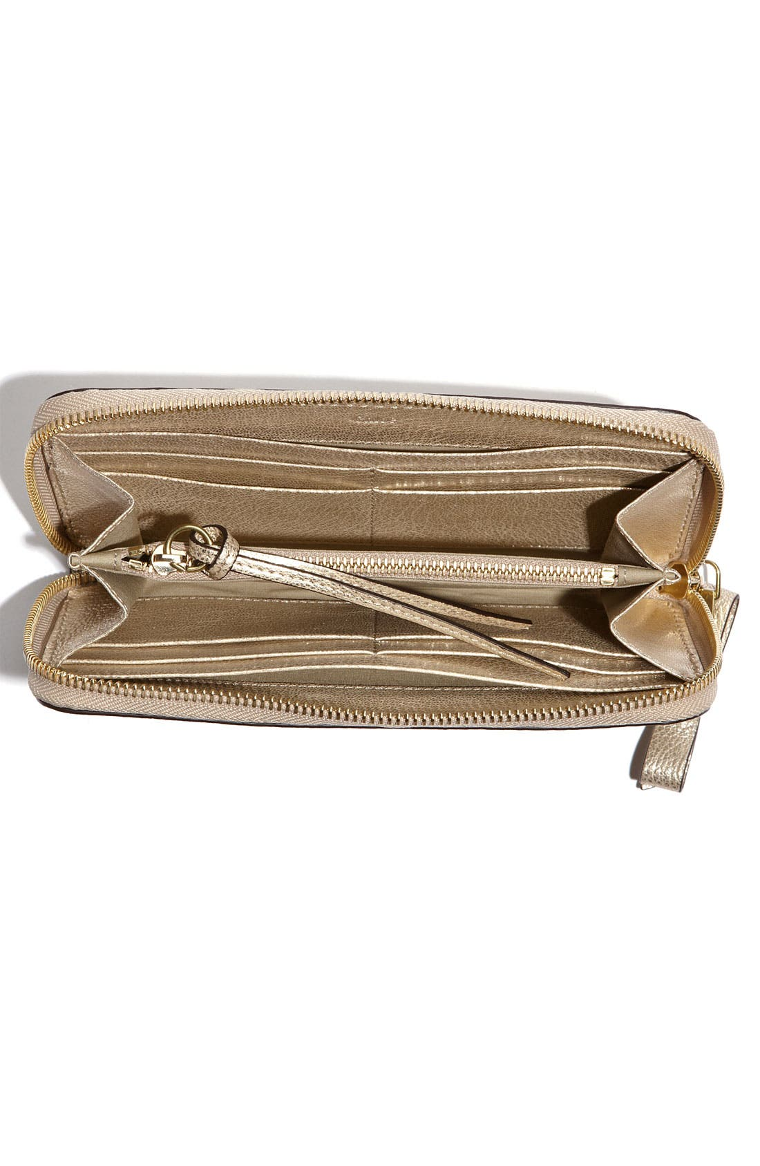 Alternate Image 3  - Chloé 'Shadow Long' Metallic Leather Wallet