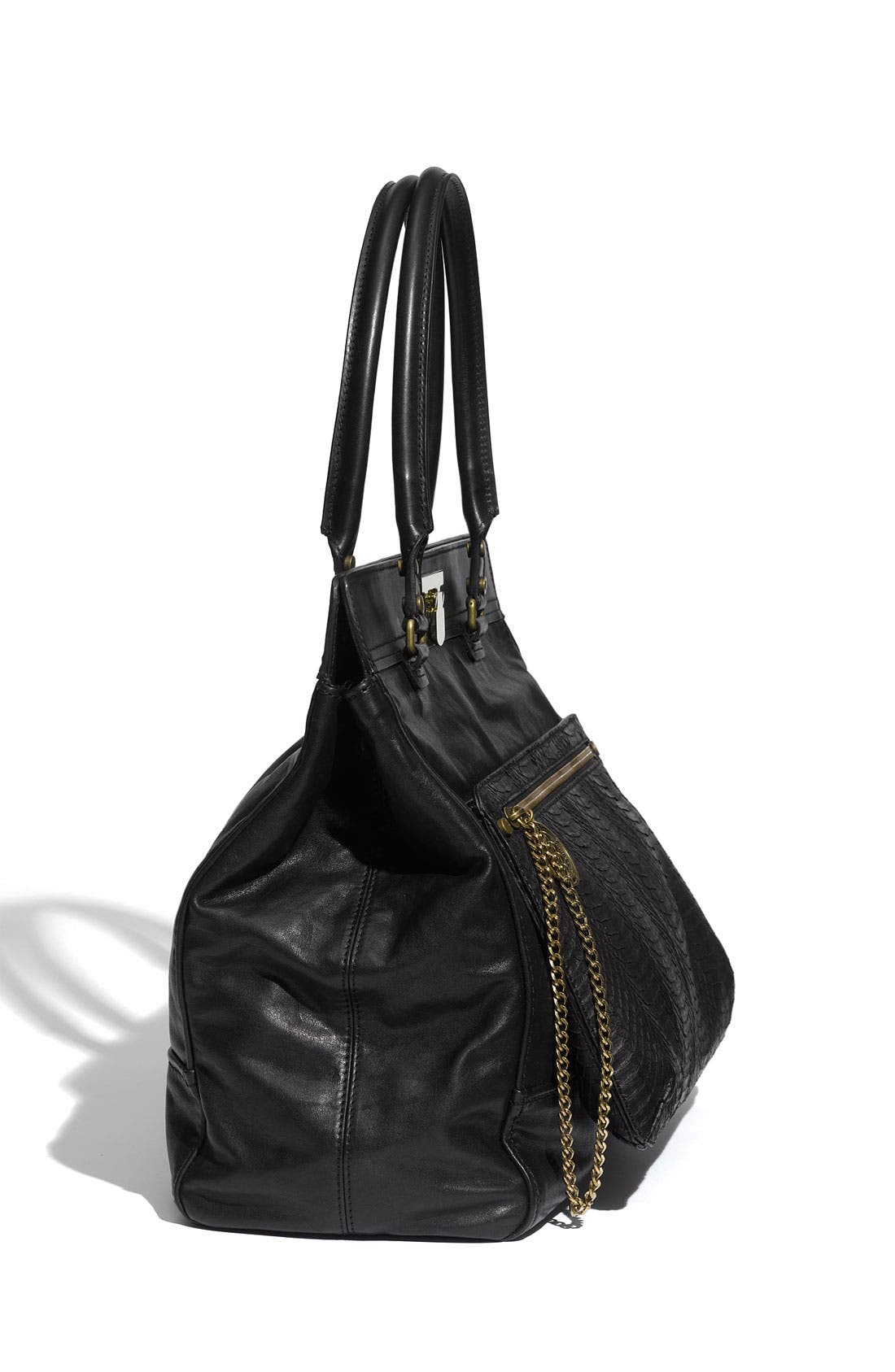 Alternate Image 2  - Lanvin 'Gypsie' Leather & Genuine Snakeskin Tote
