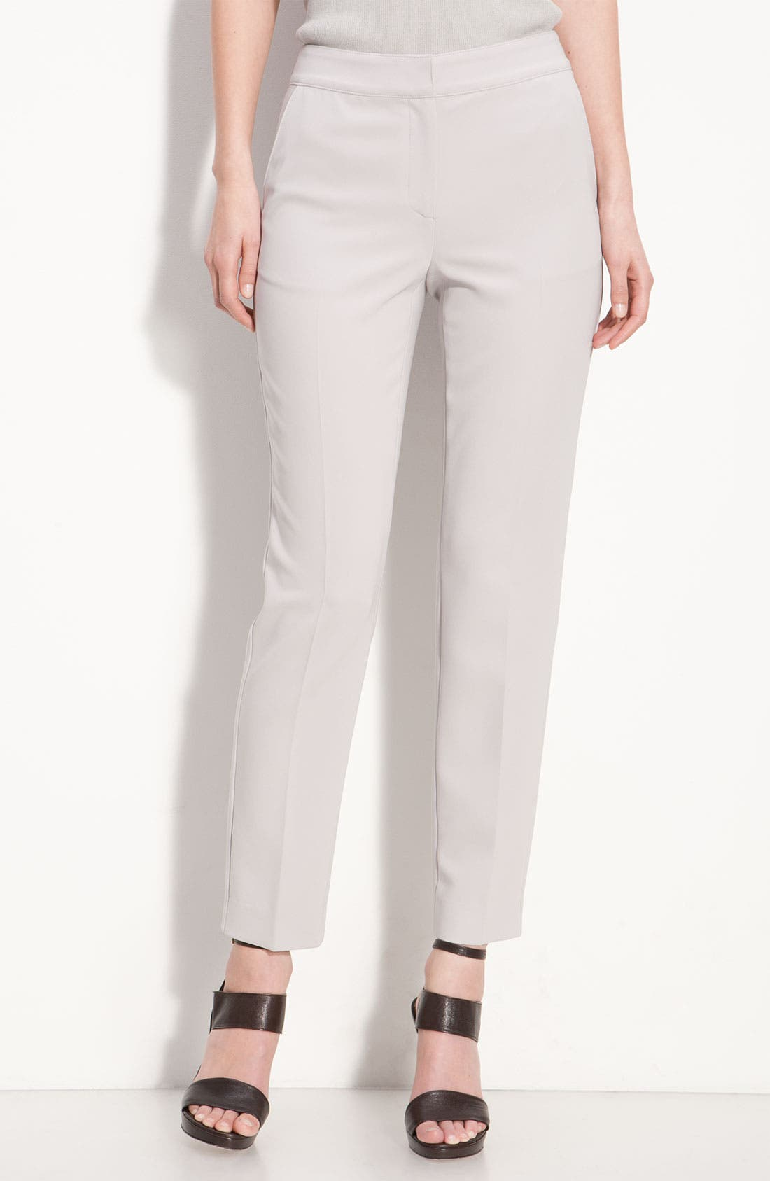 Main Image - St. John Collection Crepe Marocain Crop Pants