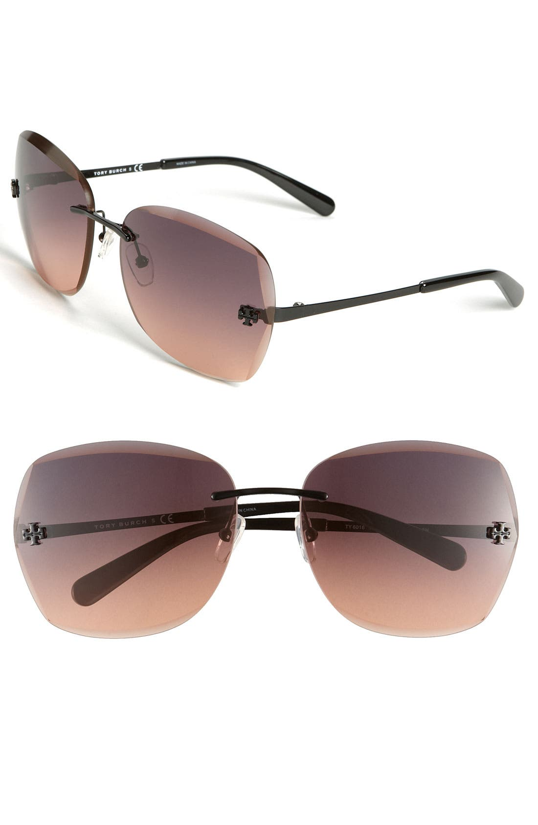 Alternate Image 1 Selected - Tory Burch Rimless Sunglasses