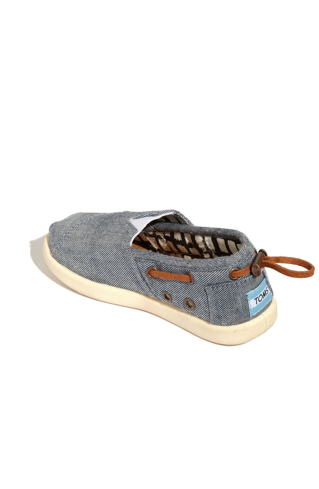 Alternate Image 2  - TOMS 'Classic Tiny - Bimini' Chambray Slip-On (Baby, Walker & Toddler)