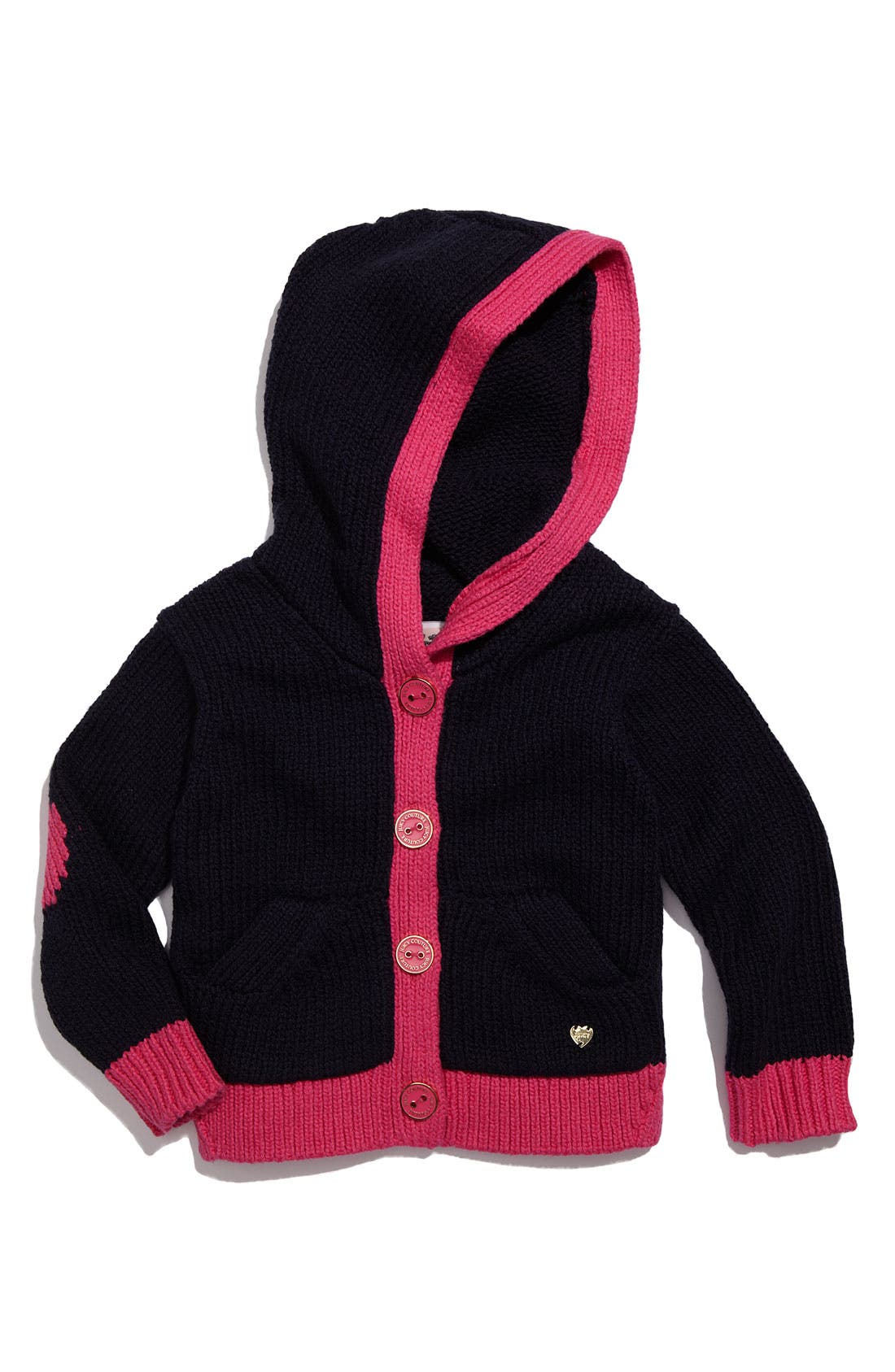 Alternate Image 1 Selected - Juicy Couture Hooded Cardigan (Toddler)