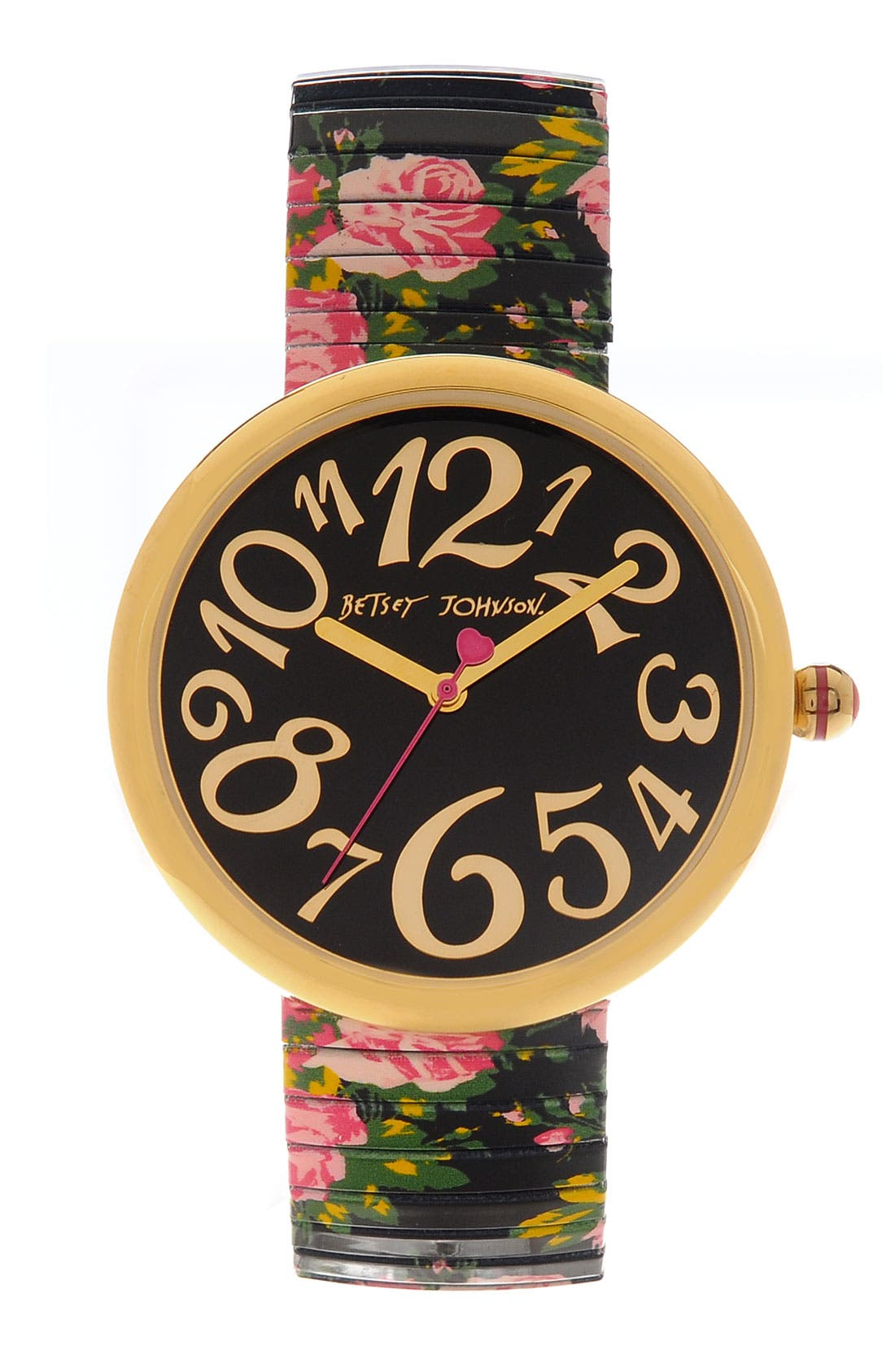 Alternate Image 1 Selected - Betsey Johnson 'Lots 'n' Lots of Time' Expansion Band Watch
