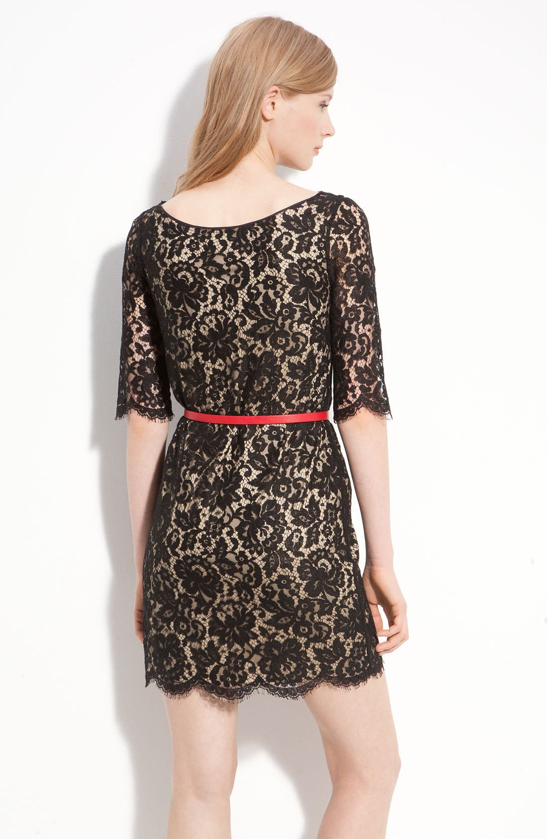 Alternate Image 2  - Robert Rodriguez Belted Lace Minidress