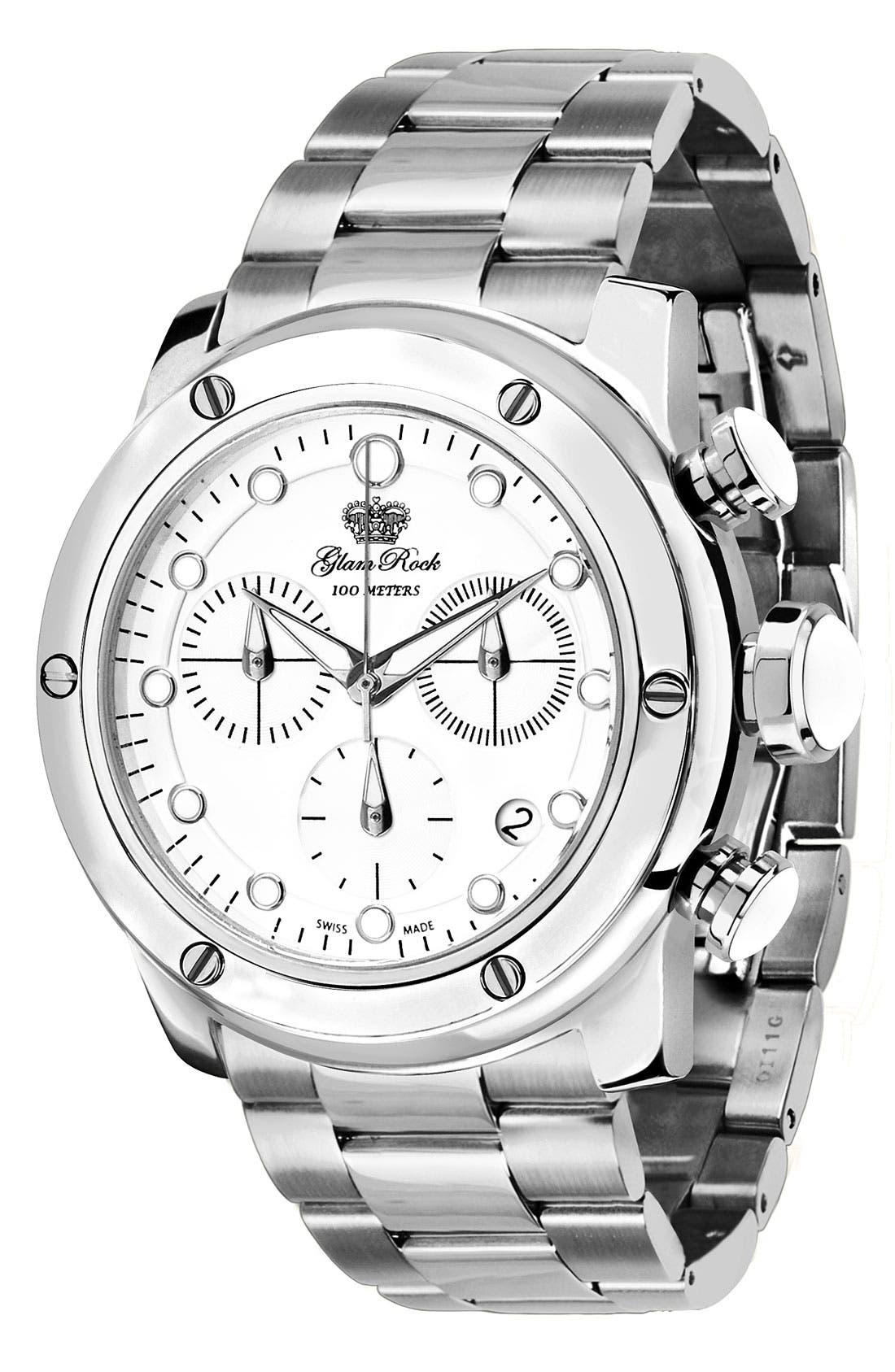 Alternate Image 1 Selected - Glam Rock 'Aqua Rock' Chronograph Bracelet Watch