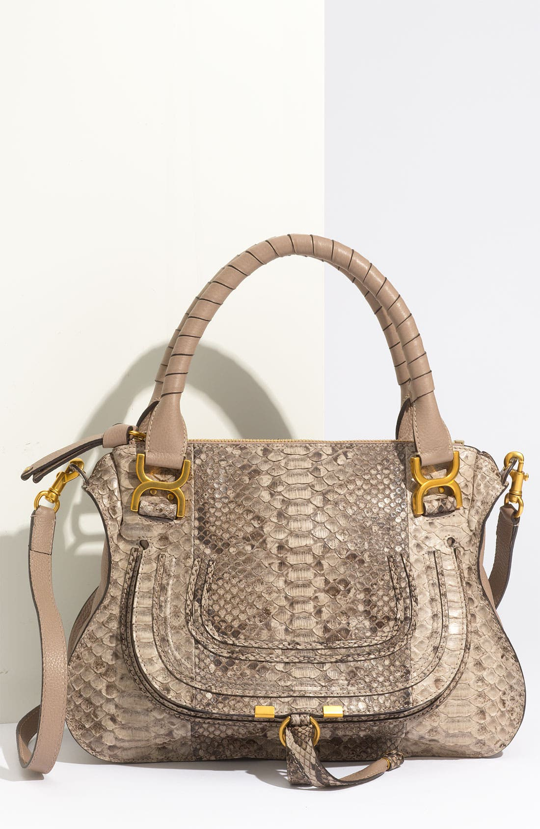 Main Image - Chloé 'Marcie - Small' Genuine Python Satchel