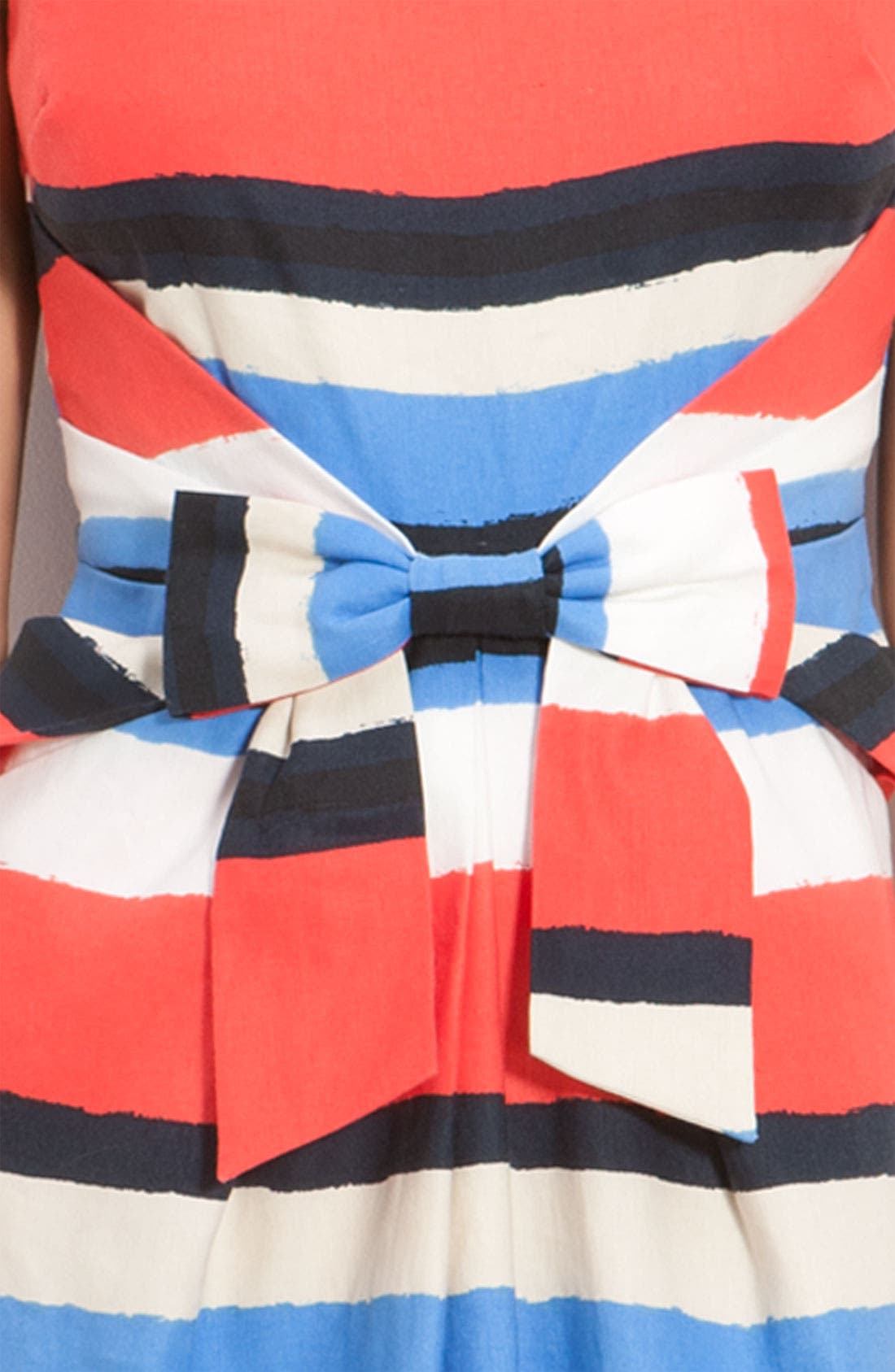 Alternate Image 3  - kate spade new york 'jillian' bow front stripe dress