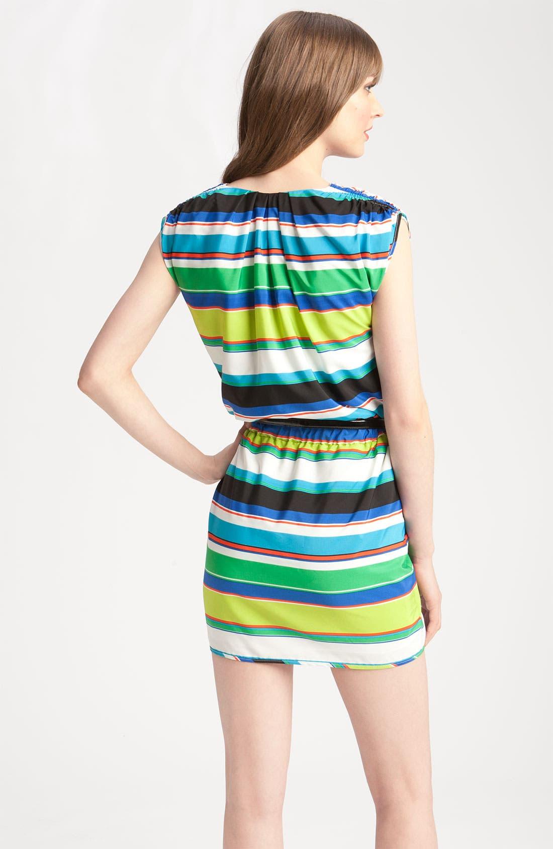 Alternate Image 2  - Vince Camuto Tribal Stripe Faux Wrap Dress