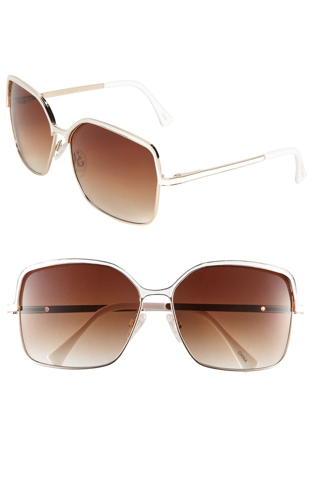 Alternate Image 1 Selected - Vince Camuto 60mm Square Metal Sunglasses