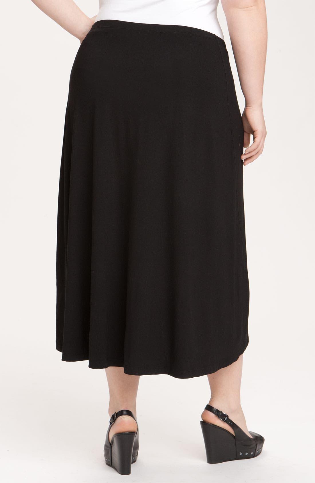Alternate Image 2  - Eileen Fisher Asymmetrical Hem Knit Skirt (Plus)