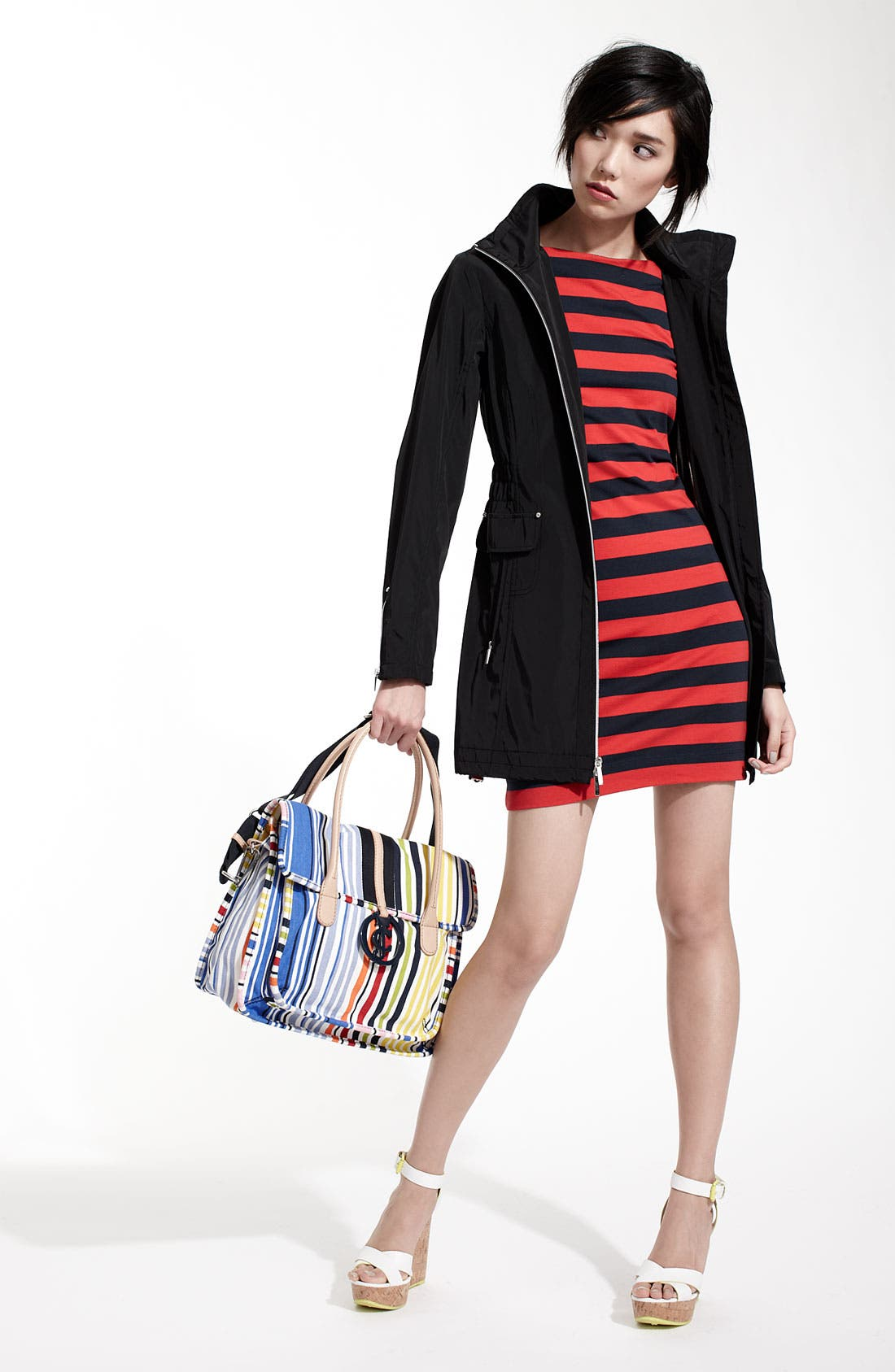 Alternate Image 4  - Laundry by Shelli Segal Hooded Anorak (Nordstrom Exclusive)