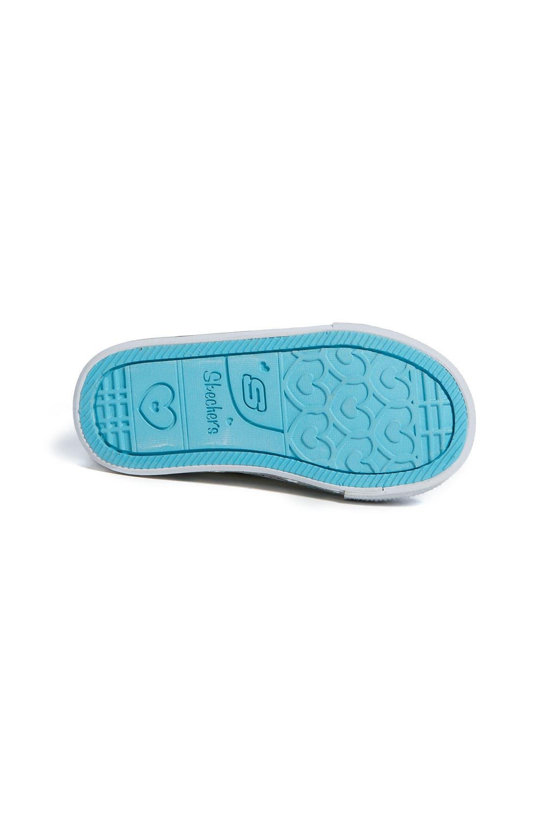 Alternate Image 4  - SKECHERS 'Peekaboo' Sneaker (Walker & Toddler)