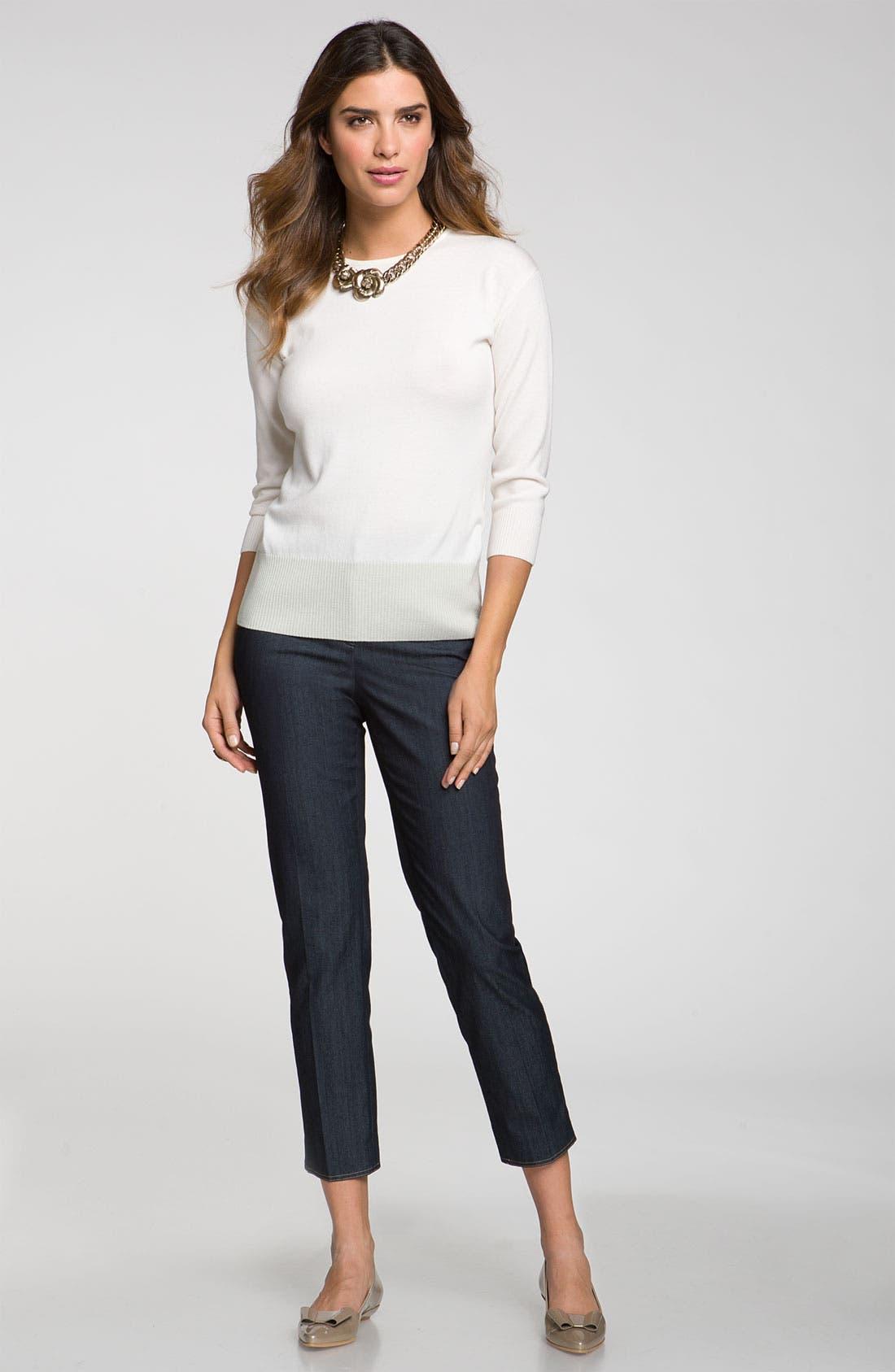 Alternate Image 2  - St. John Collection 'Emma' Lightweight Crop Jeans