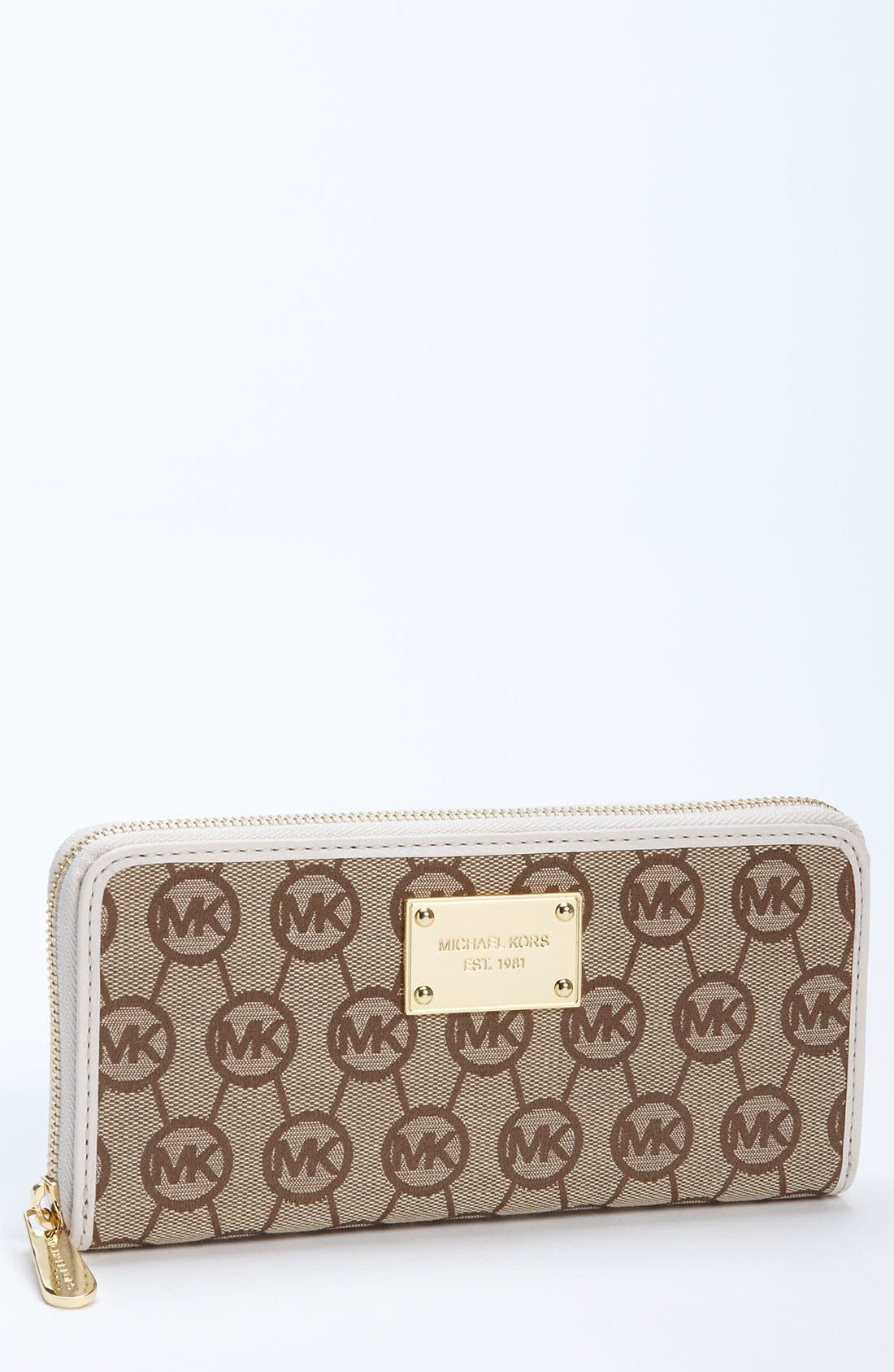 Alternate Image 1 Selected - MICHAEL Michael Kors Monogram Continental Wallet