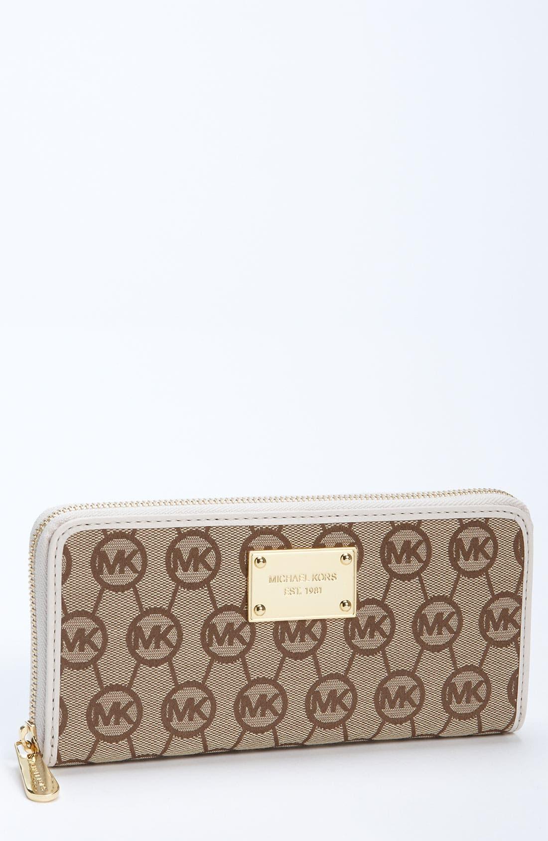 Main Image - MICHAEL Michael Kors Monogram Continental Wallet