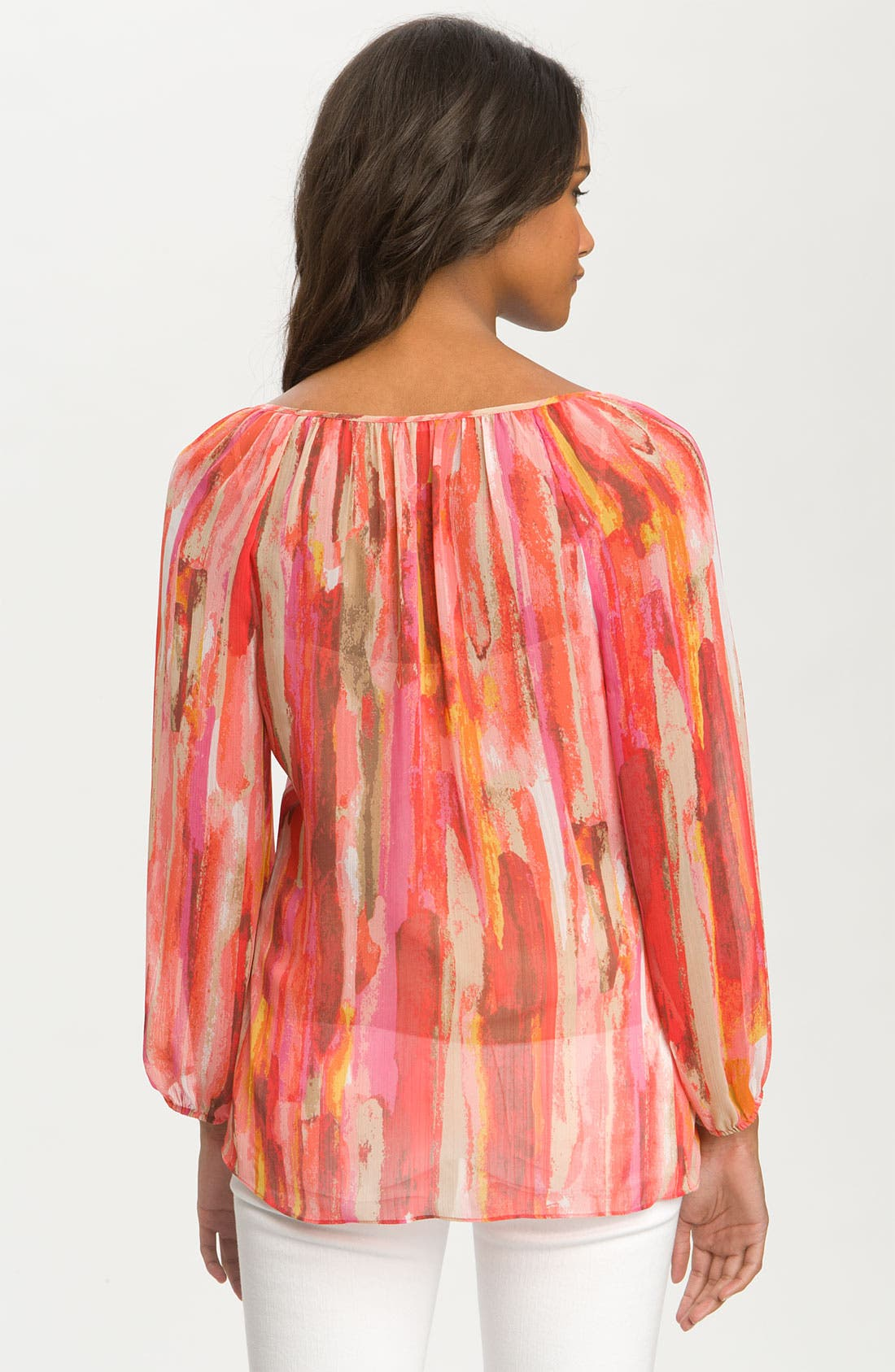Alternate Image 2  - Chaus 'Watercolor Strokes' Peasant Blouse