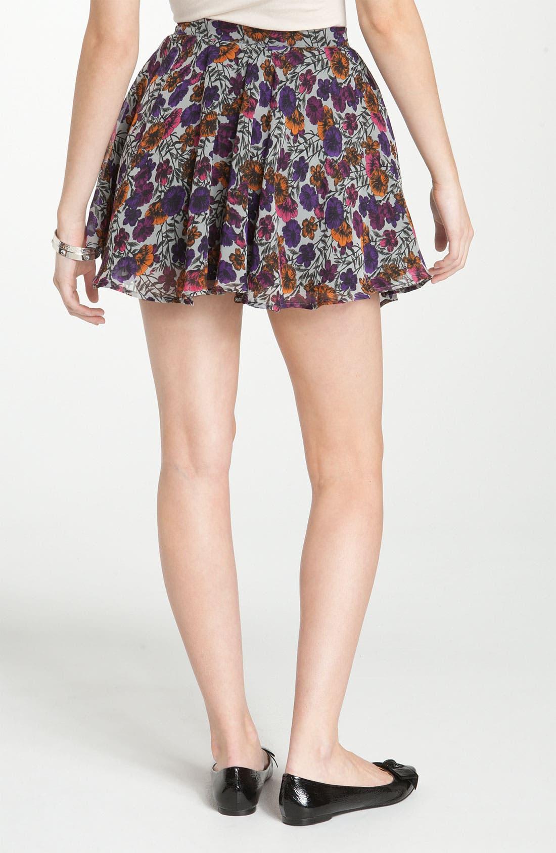 Alternate Image 2  - Lily White Chiffon Skirt (Juniors)