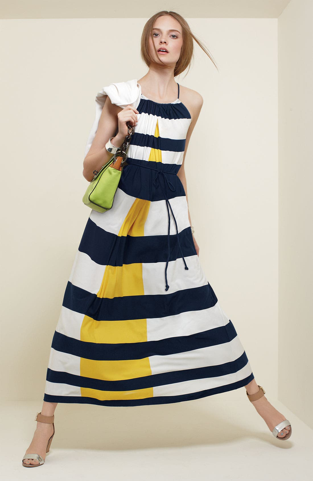 Alternate Image 4  - Maggy London Nautical Stripe Maxi Dress