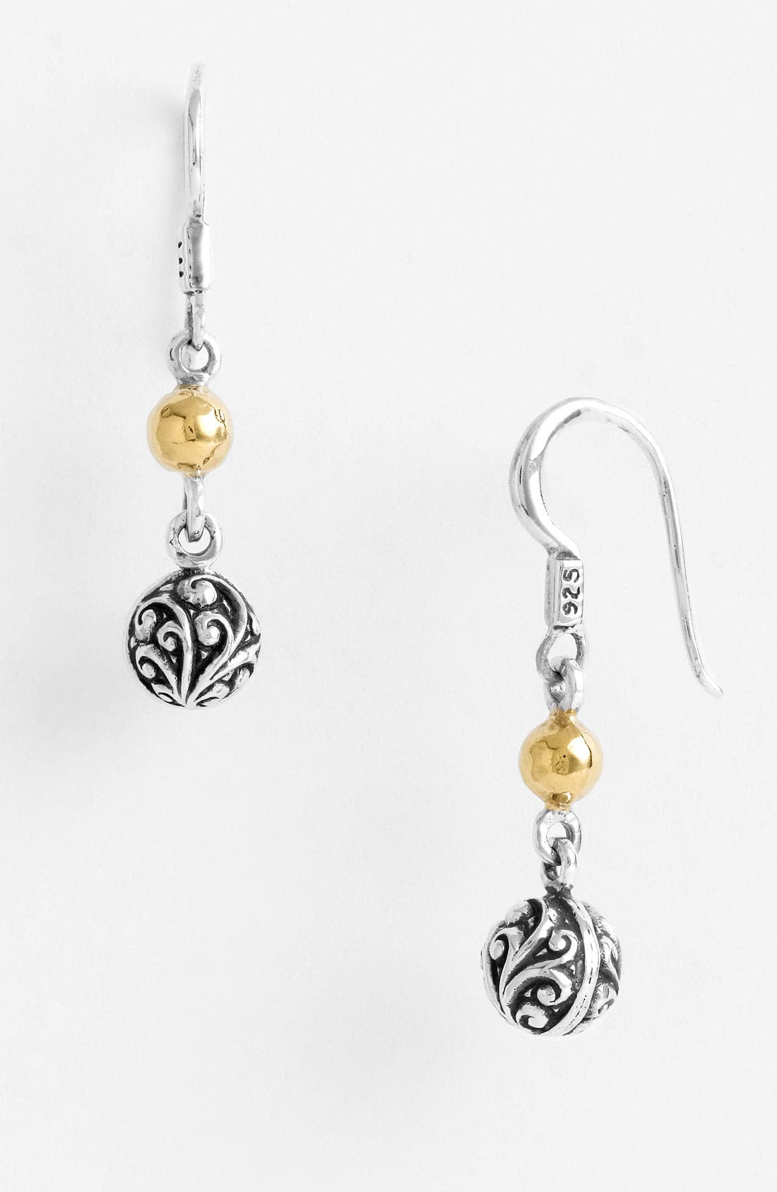 Main Image - Lois Hill 'Repousse' Two Tone Ball Drop Earrings