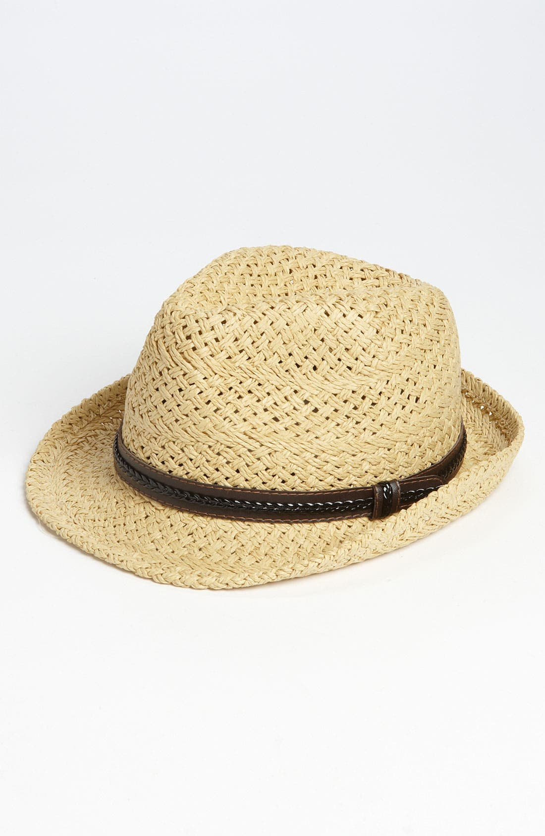 Alternate Image 1 Selected - Steve Madden Straw Fedora (Girls)