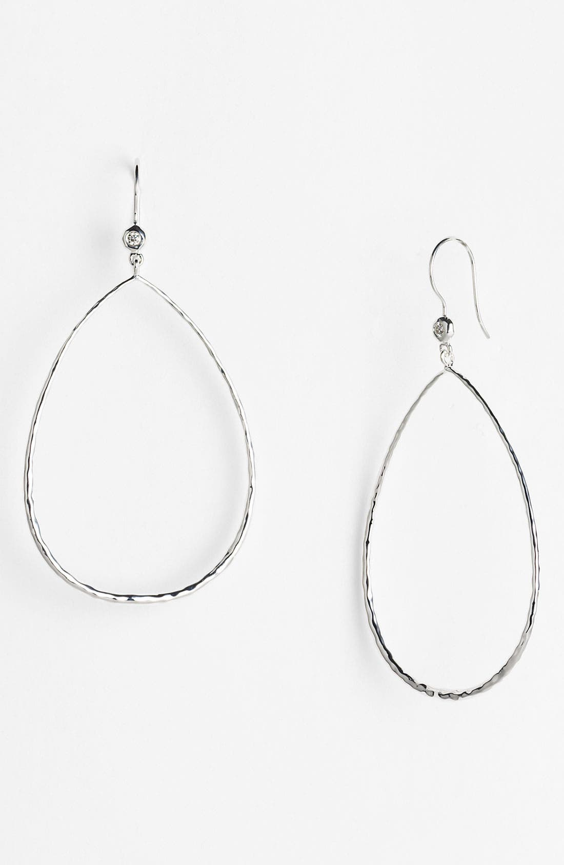 Alternate Image 1 Selected - Ippolita Diamond Accent Large Teardrop Earrings