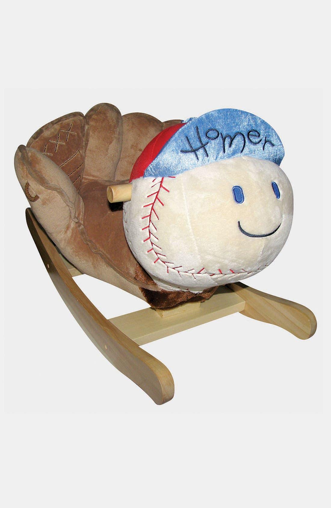 Main Image - Charm Co. 'Homer' Baseball Rocker (Toddler)