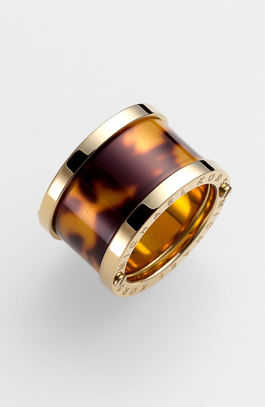 Main Image - Michael Kors 'Sleek Exotics' Barrel Ring