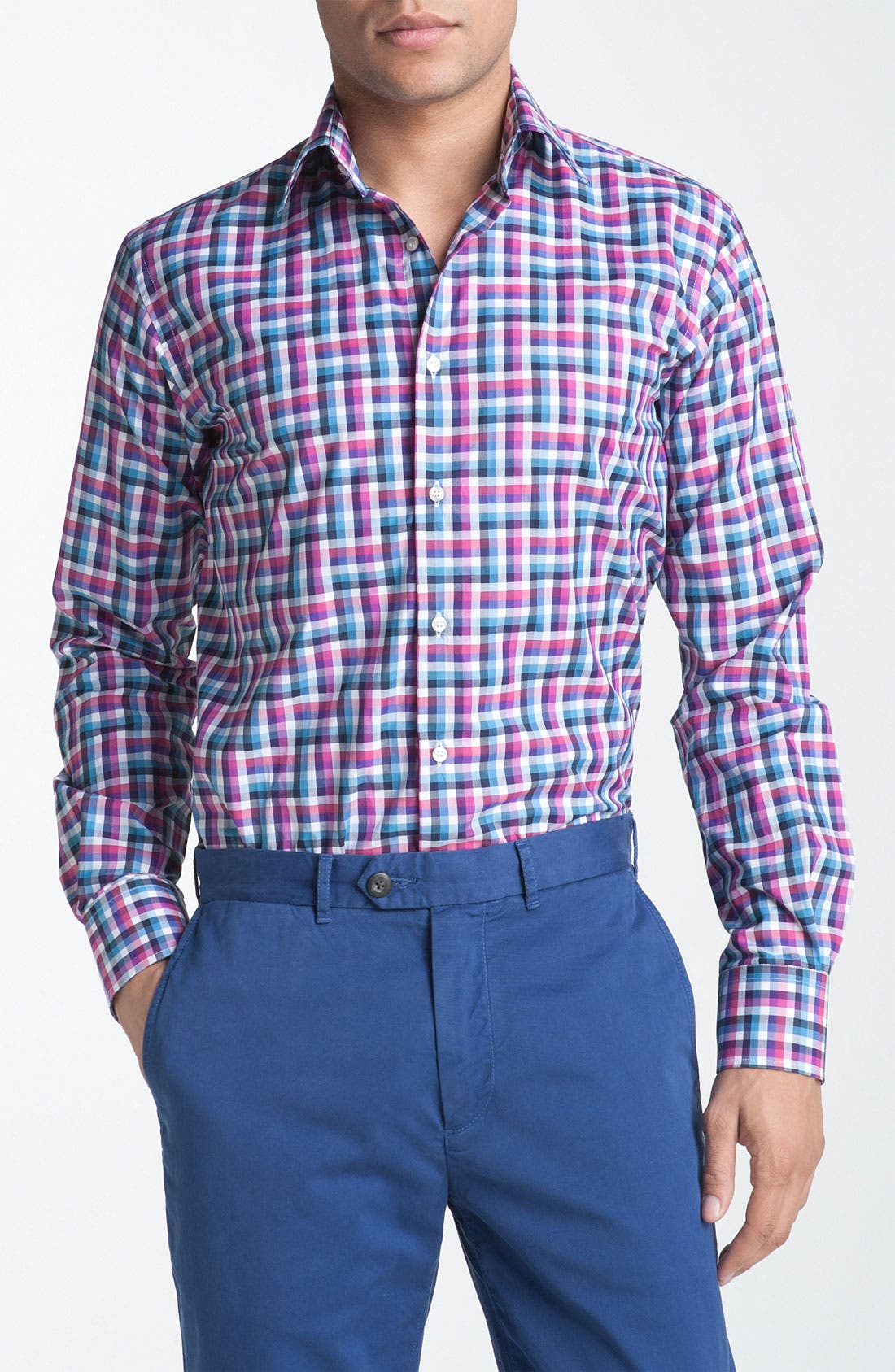 Main Image - Etro Check Plaid Woven Dress Shirt