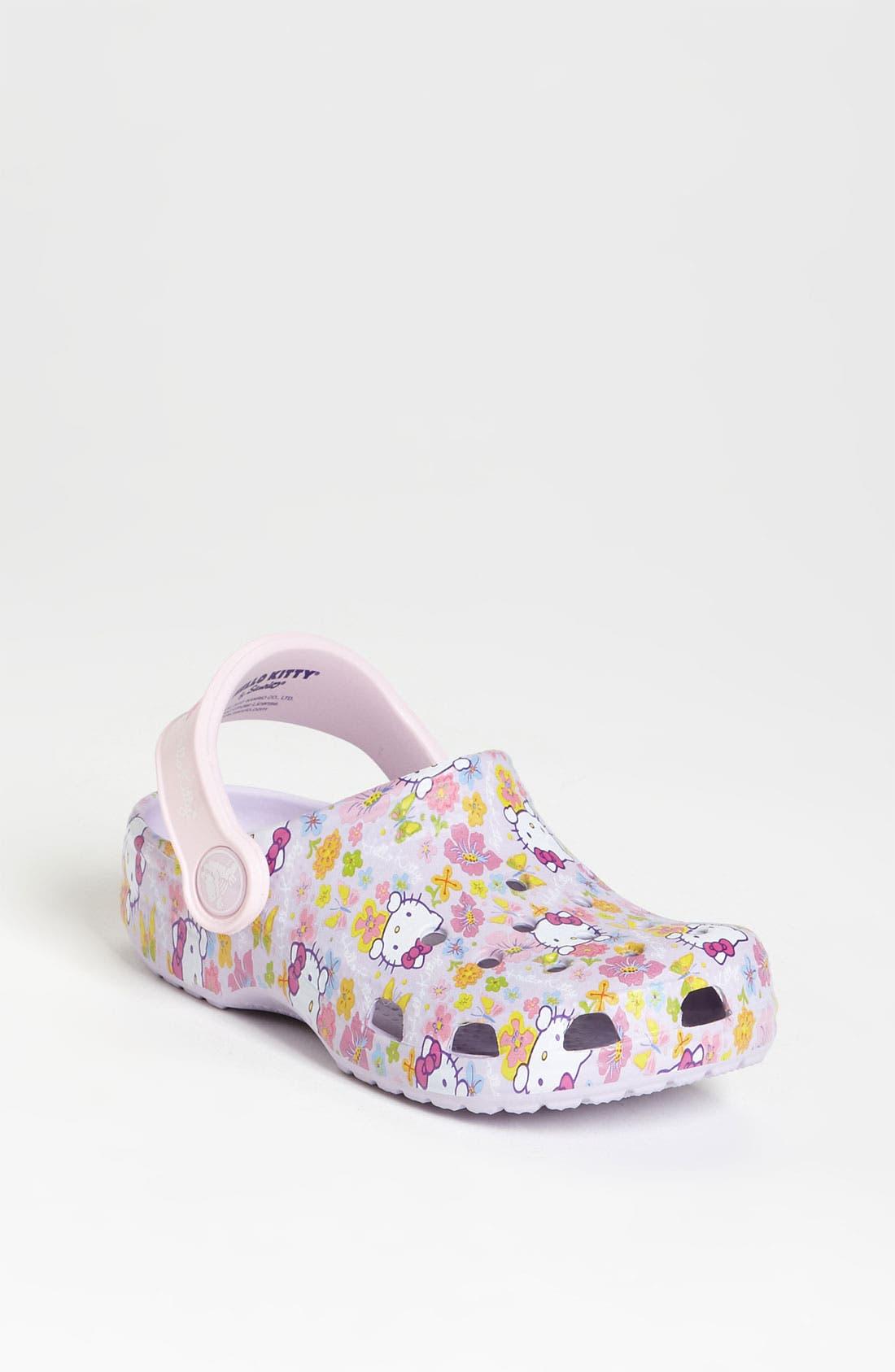 Alternate Image 1 Selected - CROCS™ 'Hello Kitty®' Slip-On (Walker & Toddler)