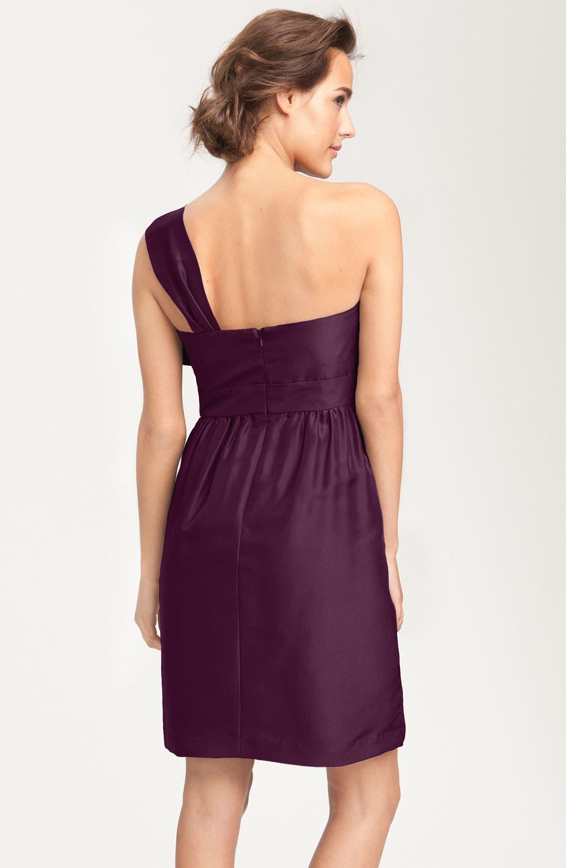 Alternate Image 2  - Jenny Yoo Convertible Shantung Dress