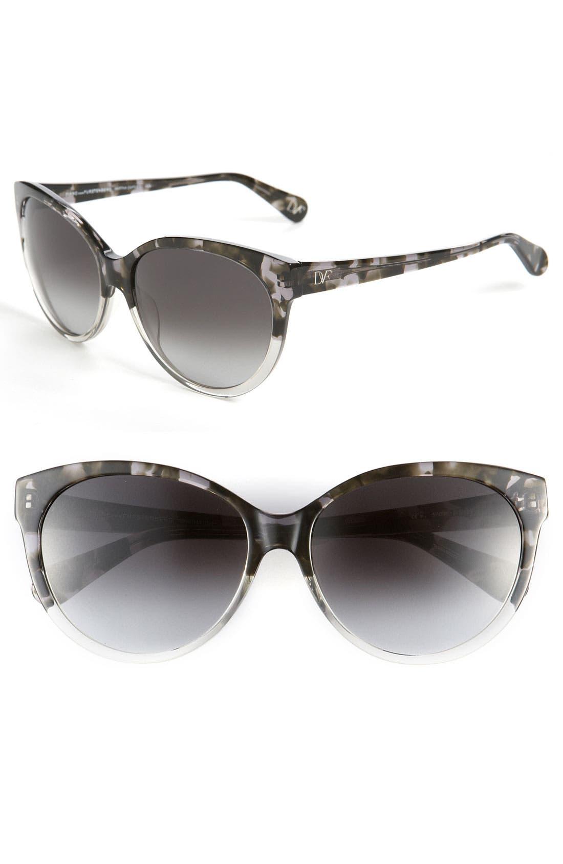Main Image - Diane von Furstenberg Cat's Eye Sunglasses